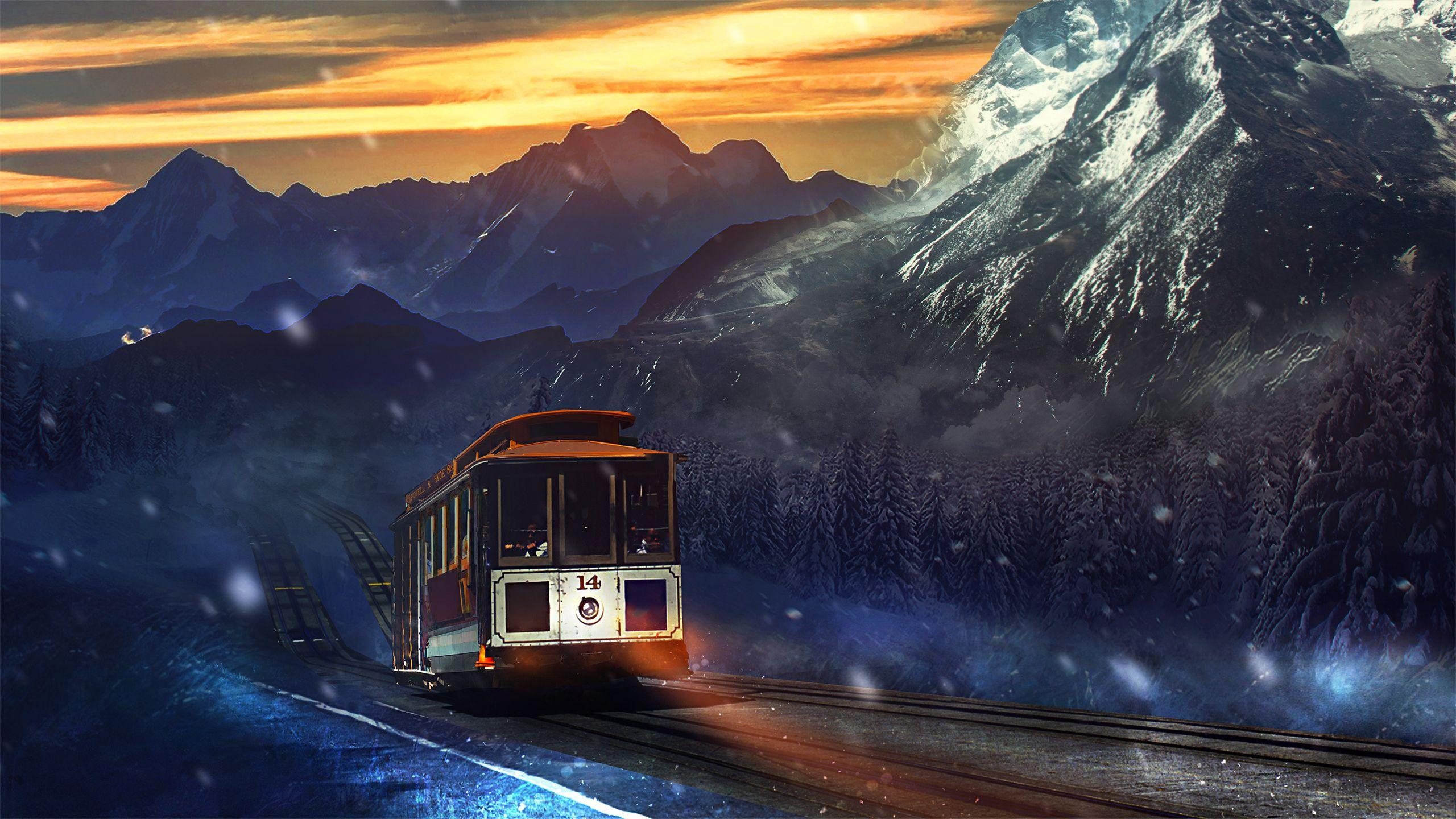Train Journey Mountains Wallpapers