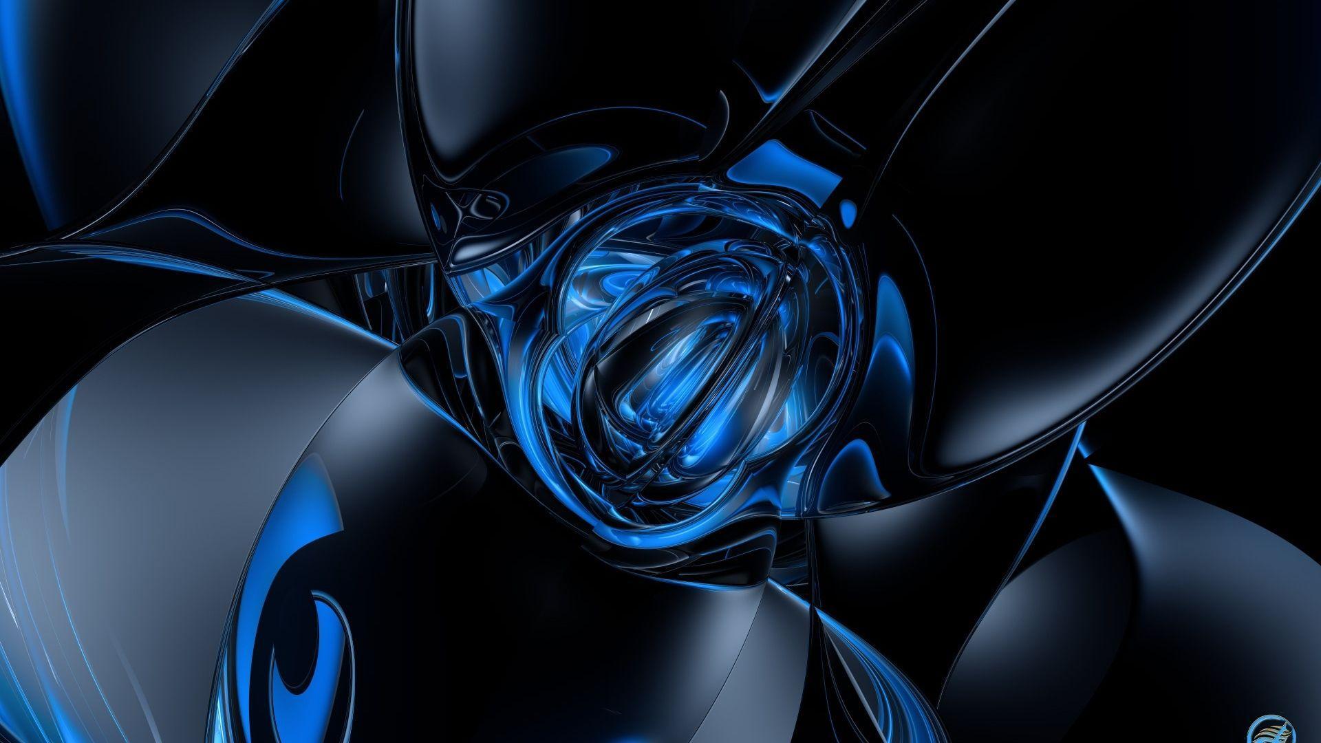 Hd Wallpapers 1920x1080 Black Blue Wallpaper Cave