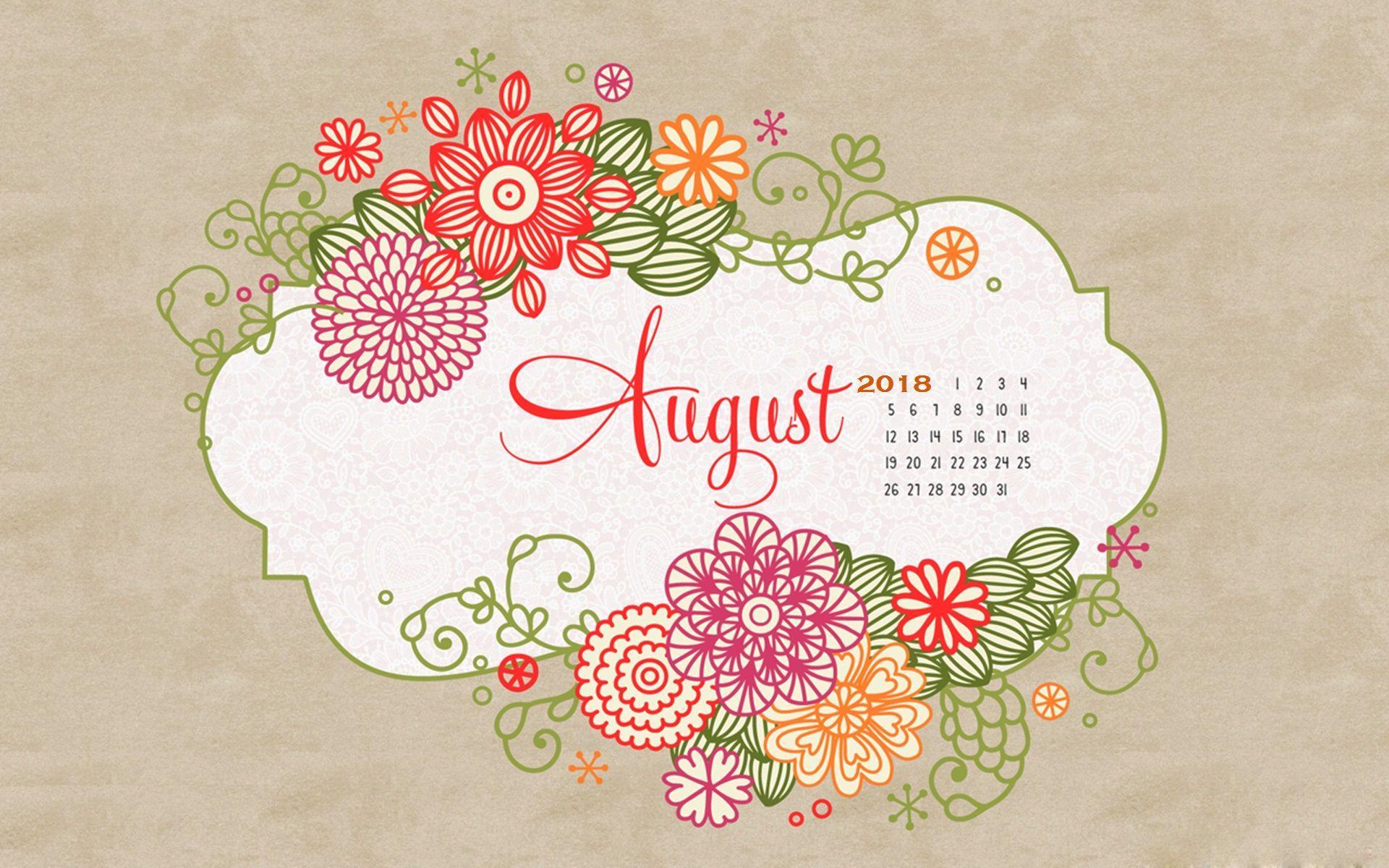 August 2018 Calendar Wallpapers Wallpaper Cave
