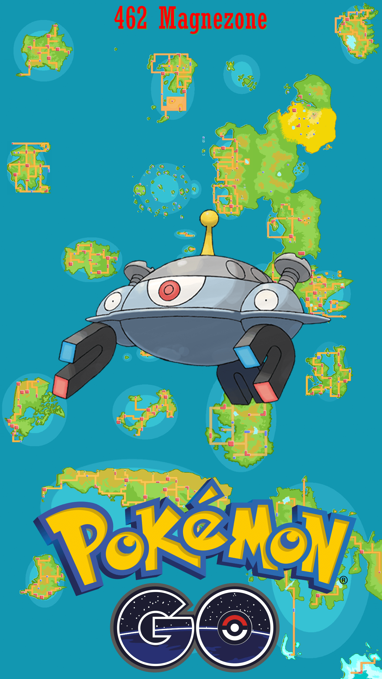 462 Street Map Magnezone | Wallpaper