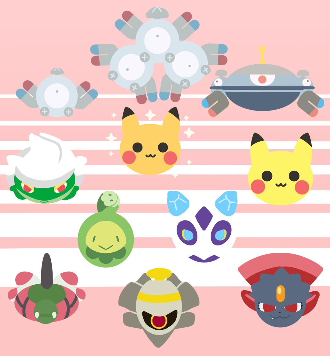 Magnemite, Magneton, Magnezone, Roserade, shiny Pikachu, normal ...