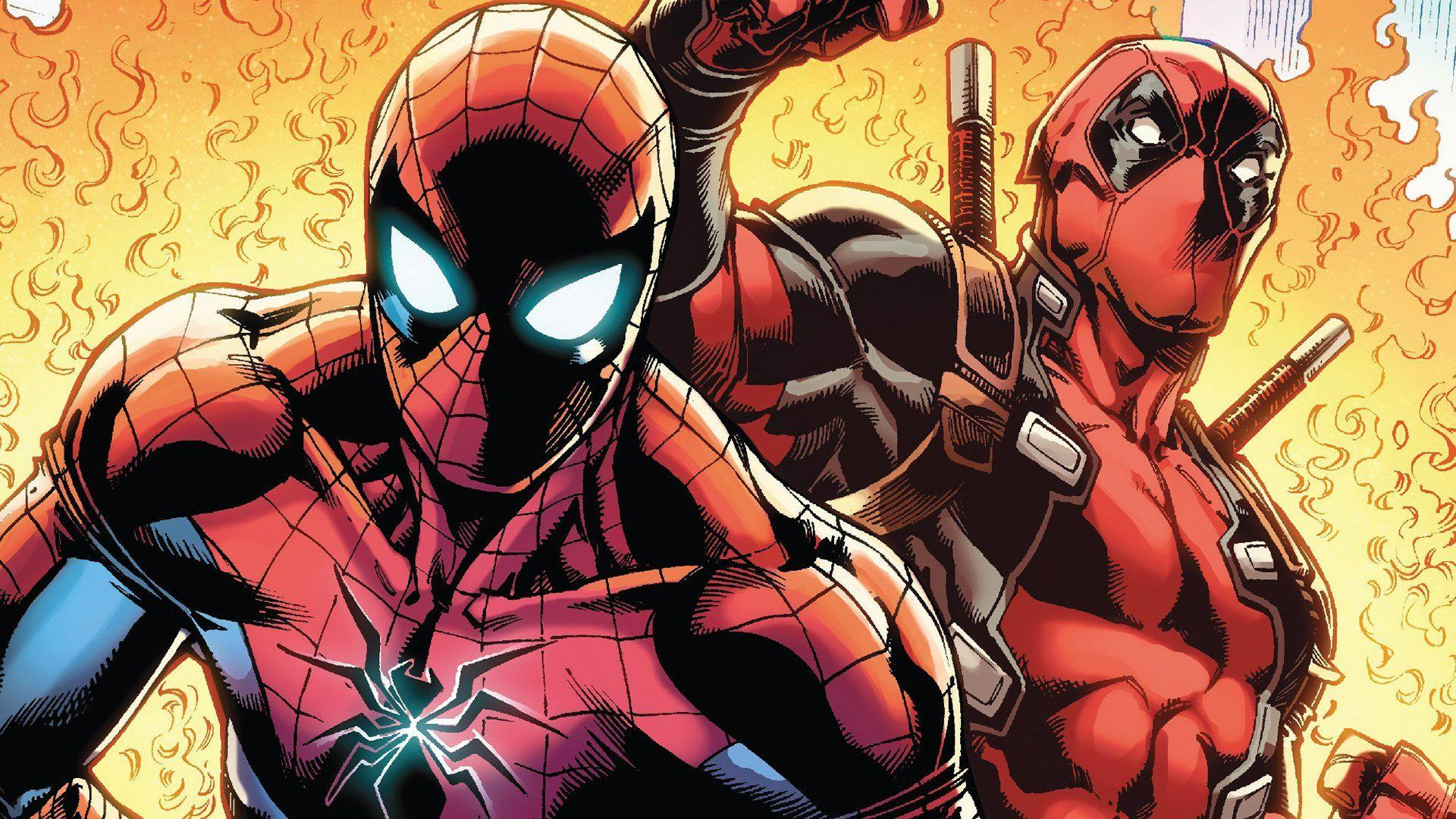 Deadpool And Spider Man Wallpapers Wallpaper Cave