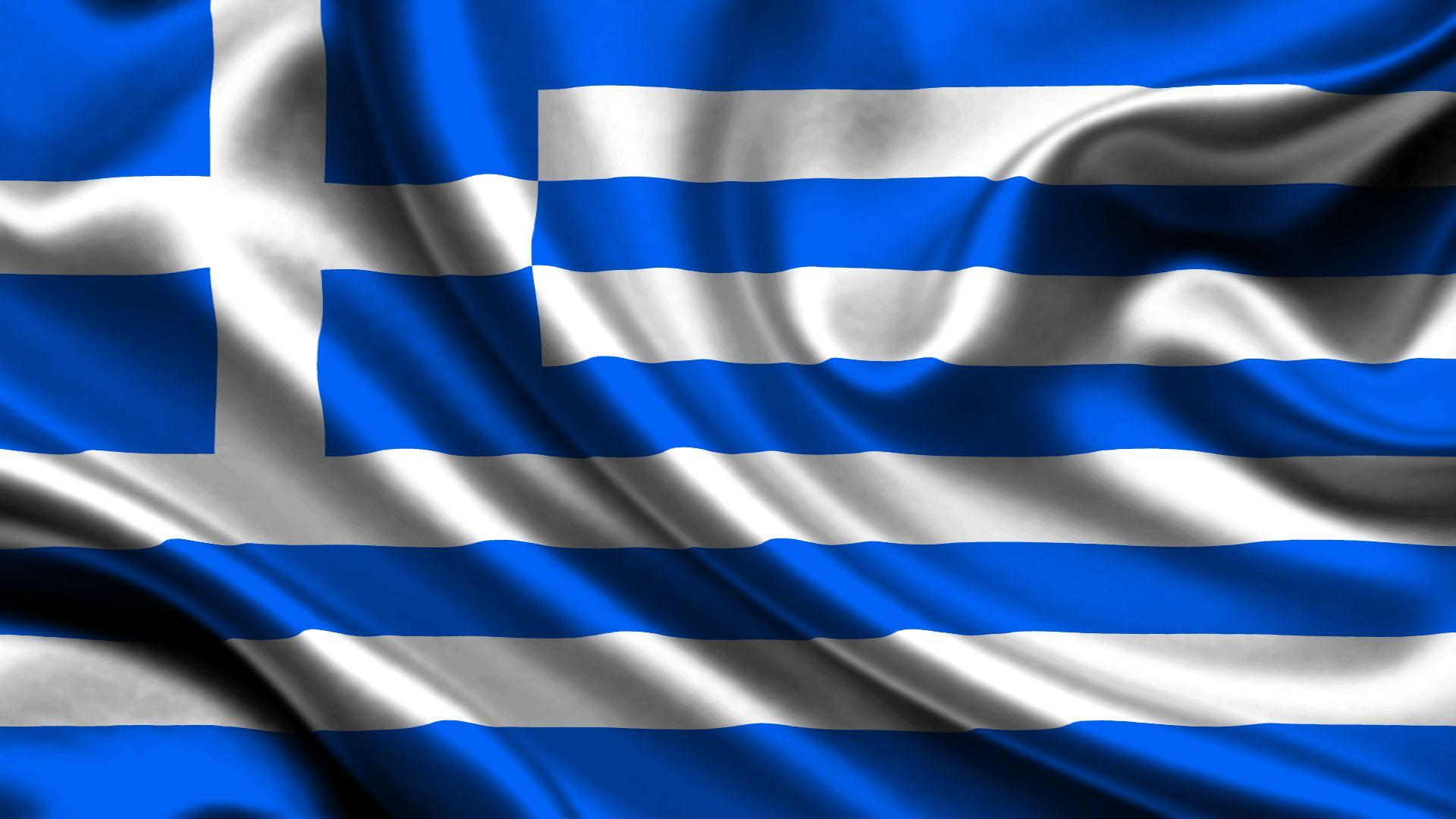 Wallpapers Greece Flag Cross Stripes 1920x1080