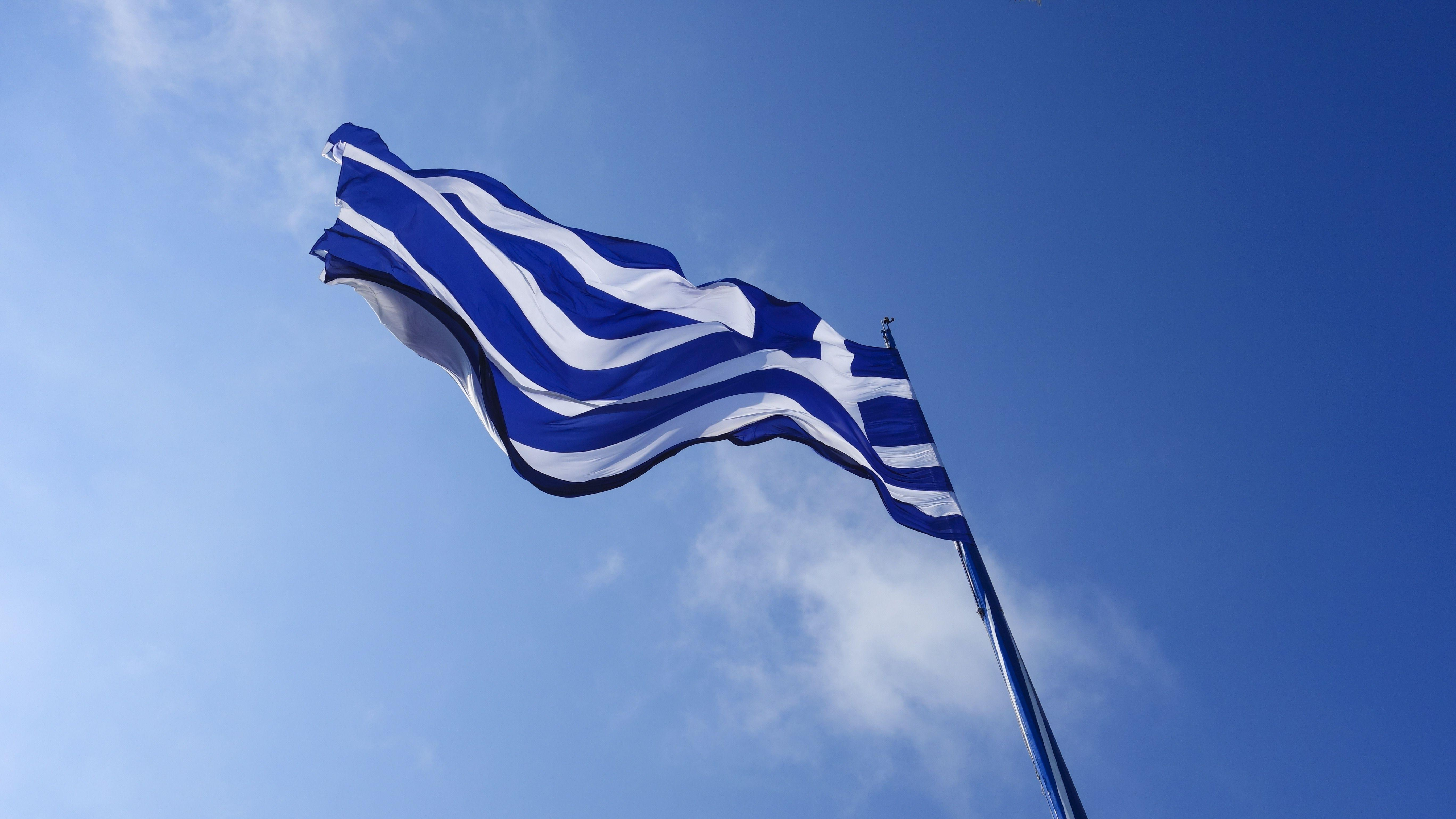 white and blue stripe flag free image