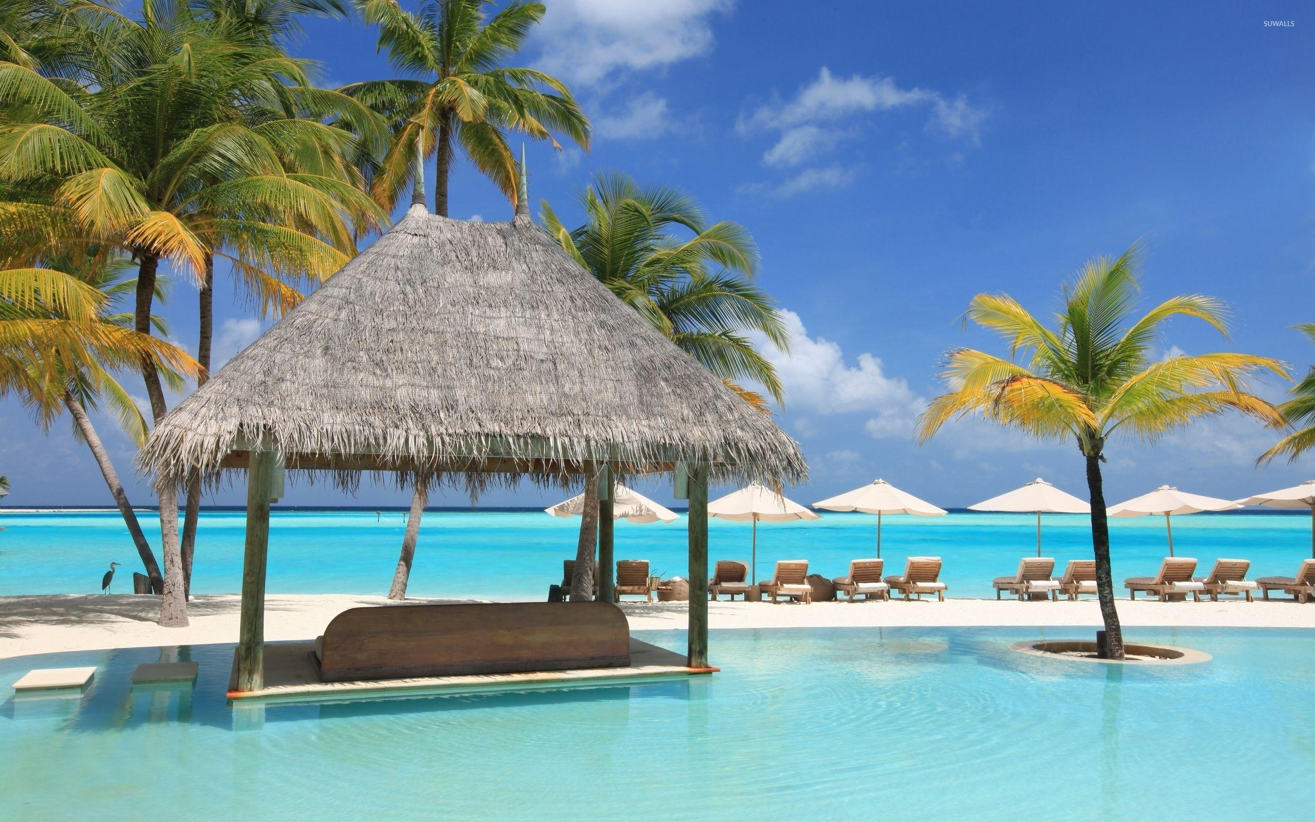 Beautiful resort in Maldives wallpapers