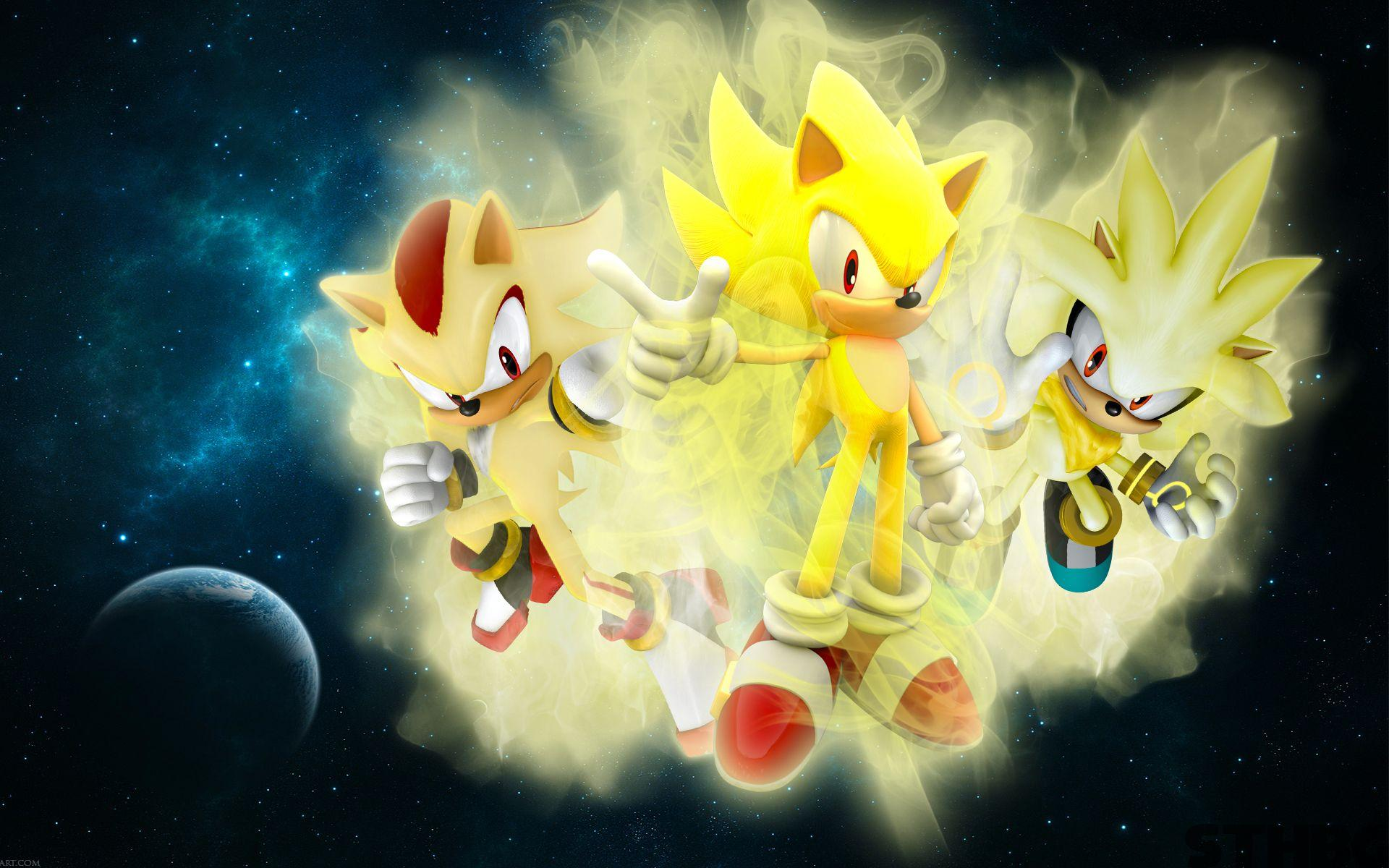 Picts Of Super Sonic And Silver And Shadow Wallpapers Hd Wallpaper Cave