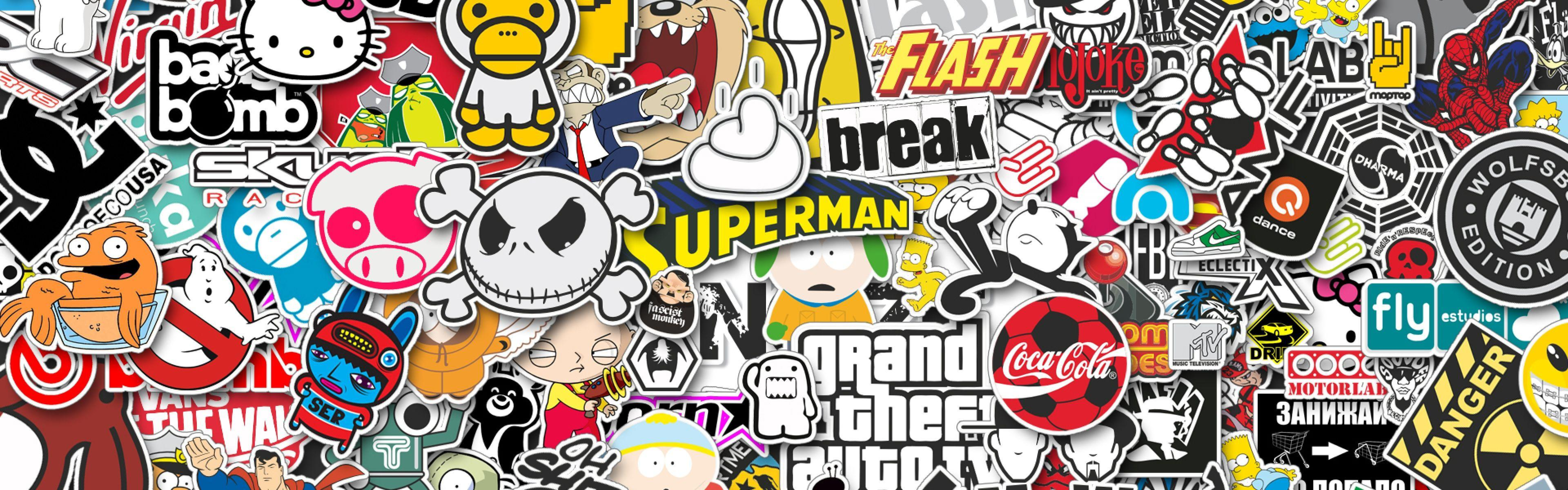 Sticker wallpaper qygjxz