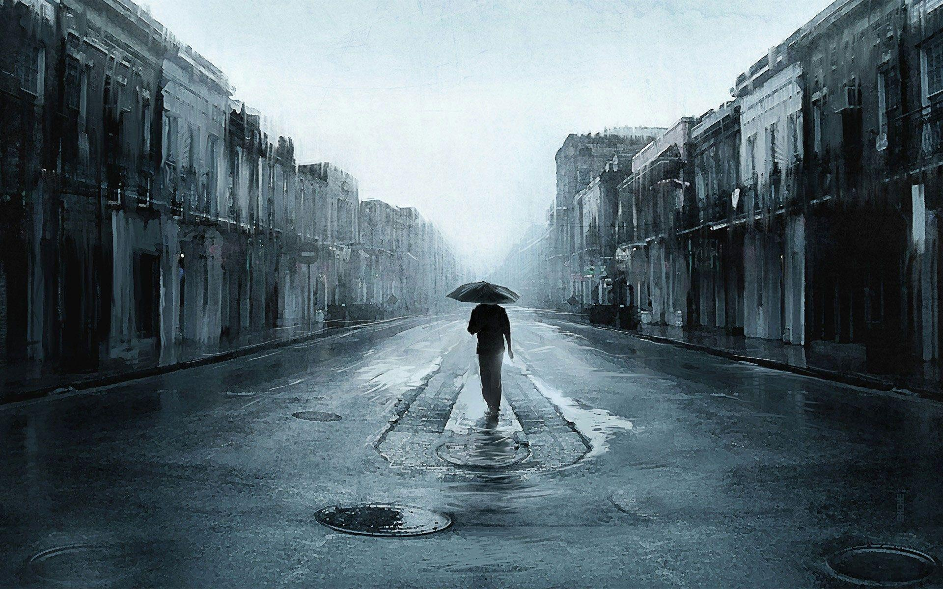 Rain alone wallpaper heart touching sad boy wallpapers hd pictures