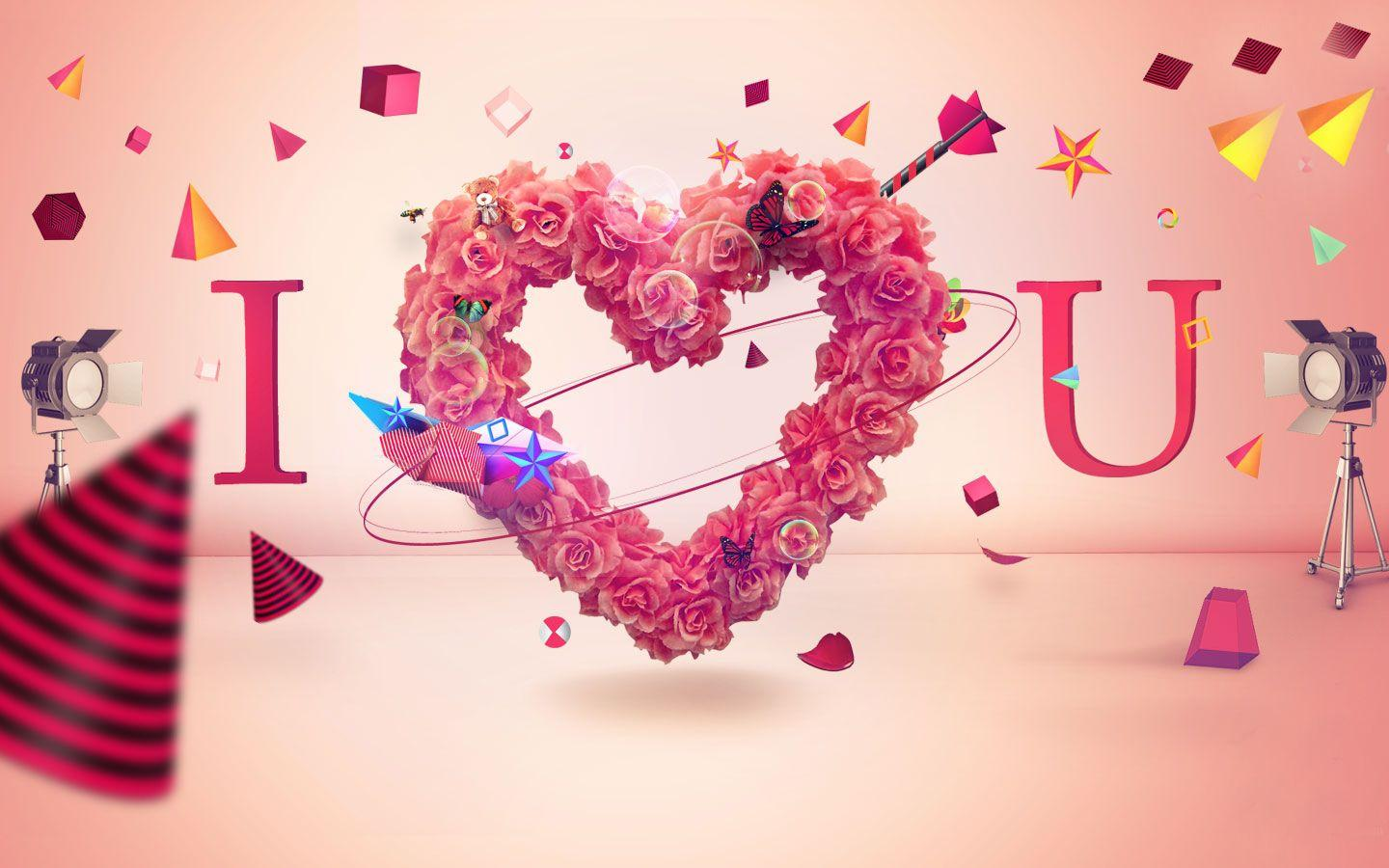 Colorful 3d Love Wallpapers Wallpaper Cave