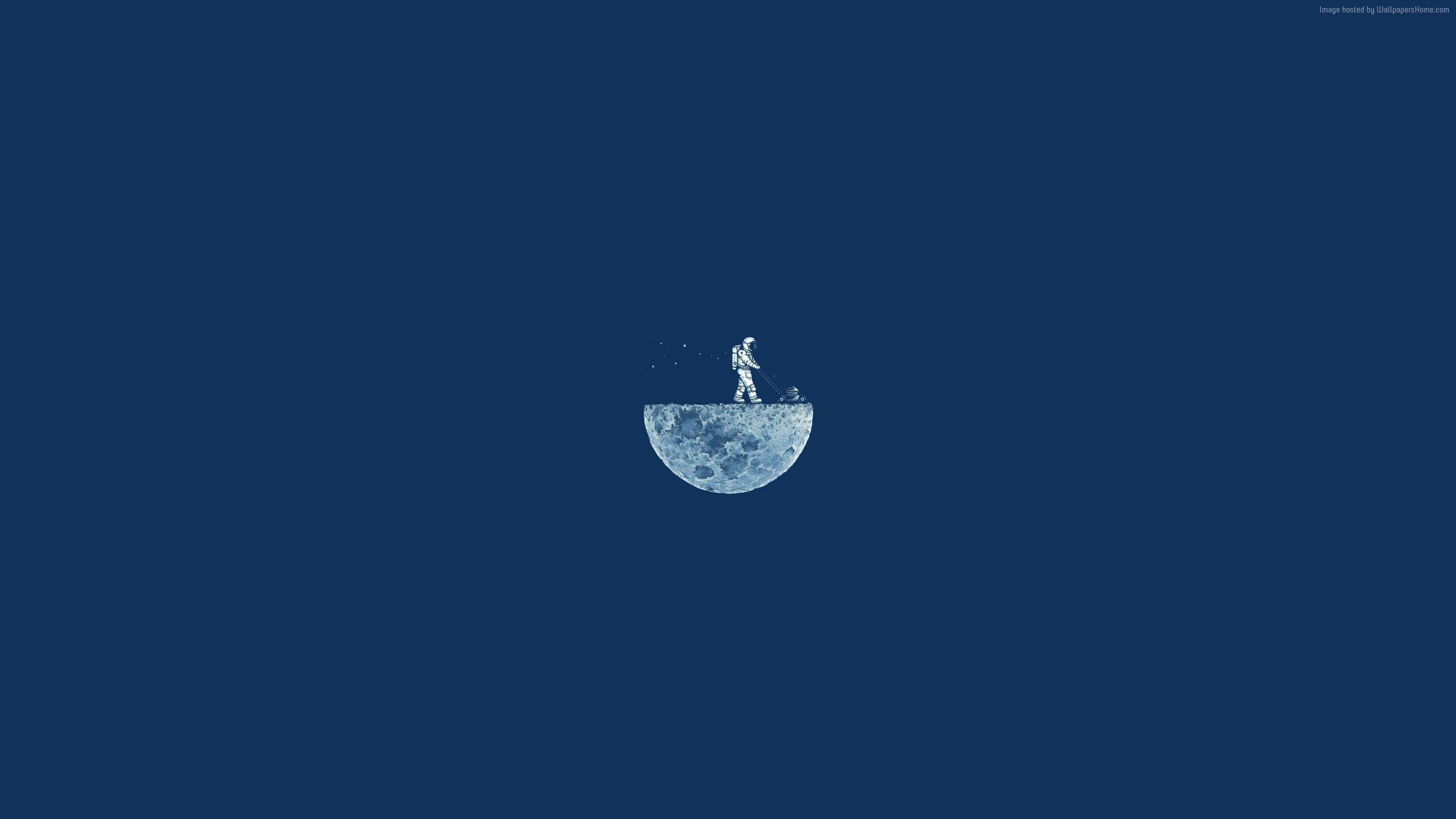Wallpapers Moon Mow, 4k, HD, moon, minimalism, iphone wallpapers