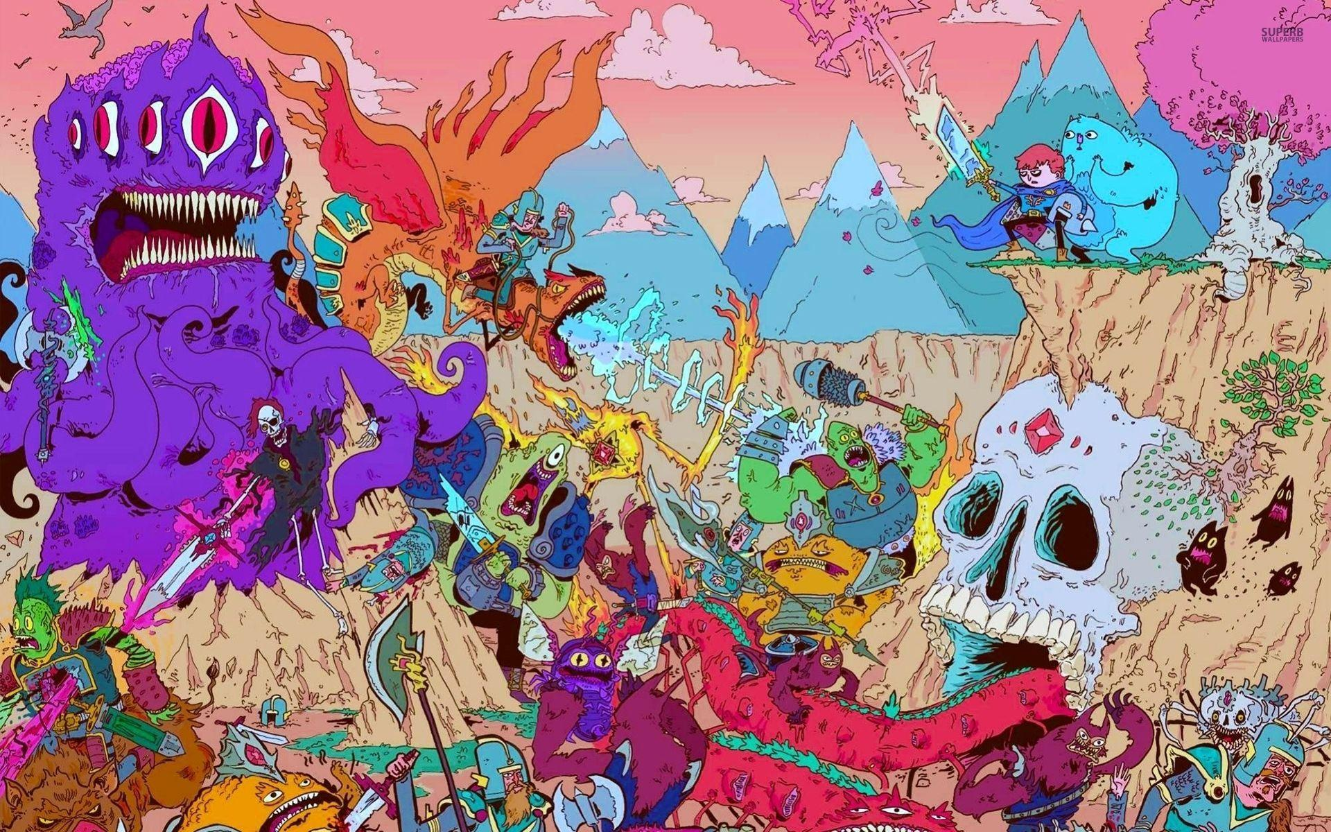 Psychedelic Adventure Time Wallpapers - Wallpaper Cave