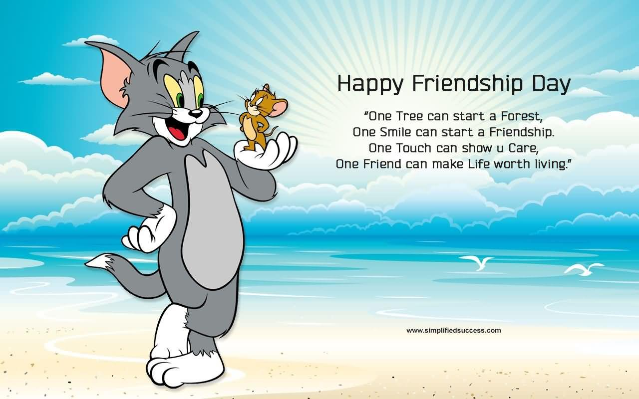 Tom And Jerry Wallpapers Of Happy Friendship Day Wallpaper Cave