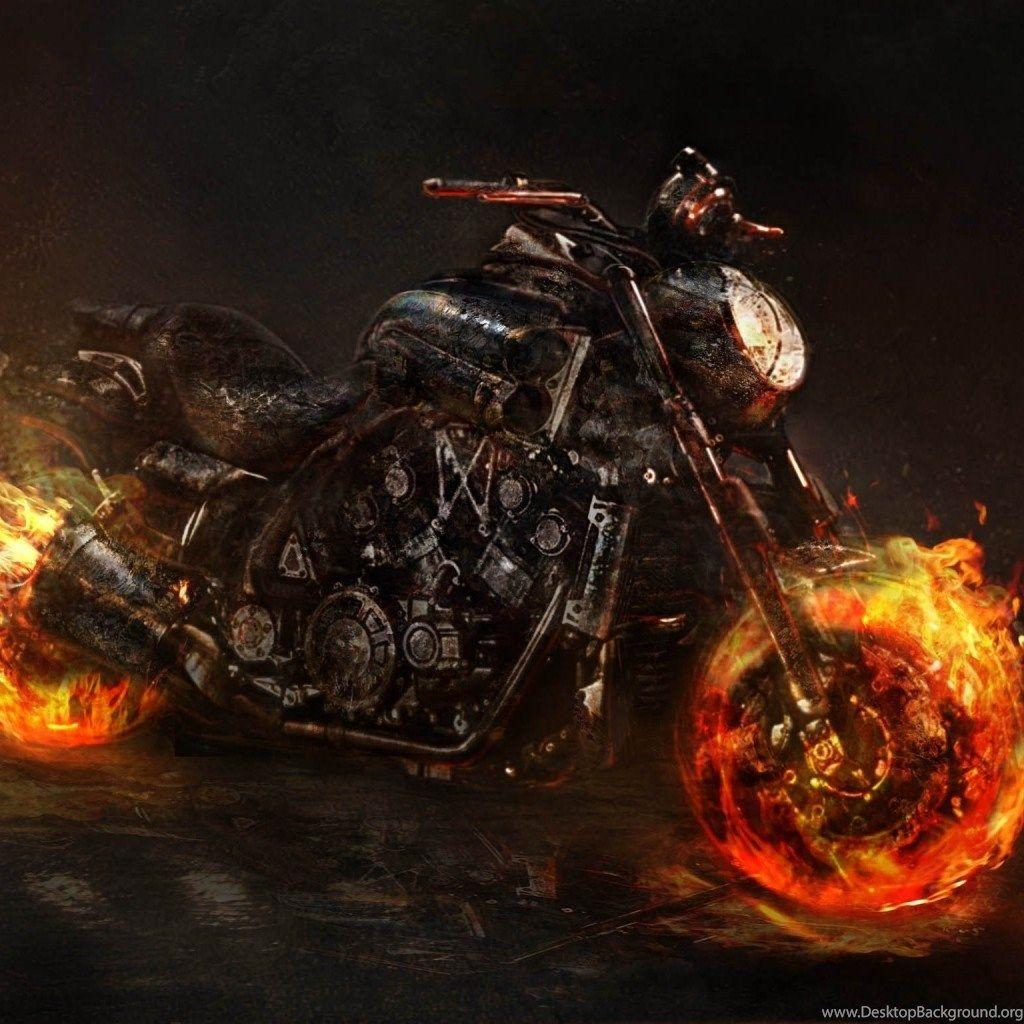Wallpapers Ghost Rider 2, Bike, Motorcycle, Yamaha Vmax Wallpapers