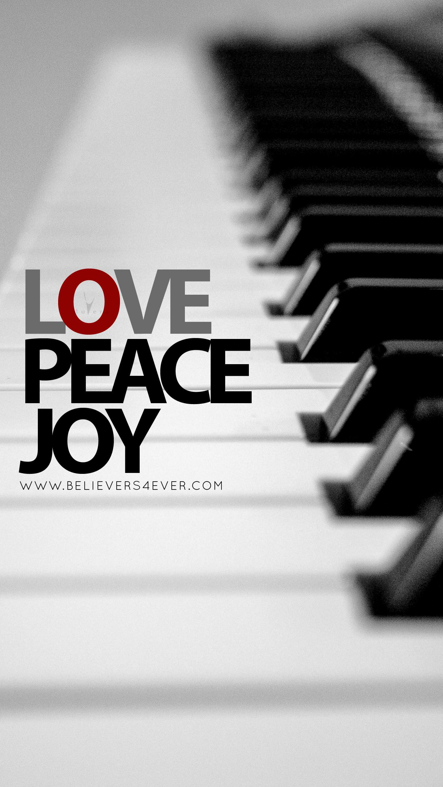 Love Joy Peace mobile Christian lock screen wallpapers
