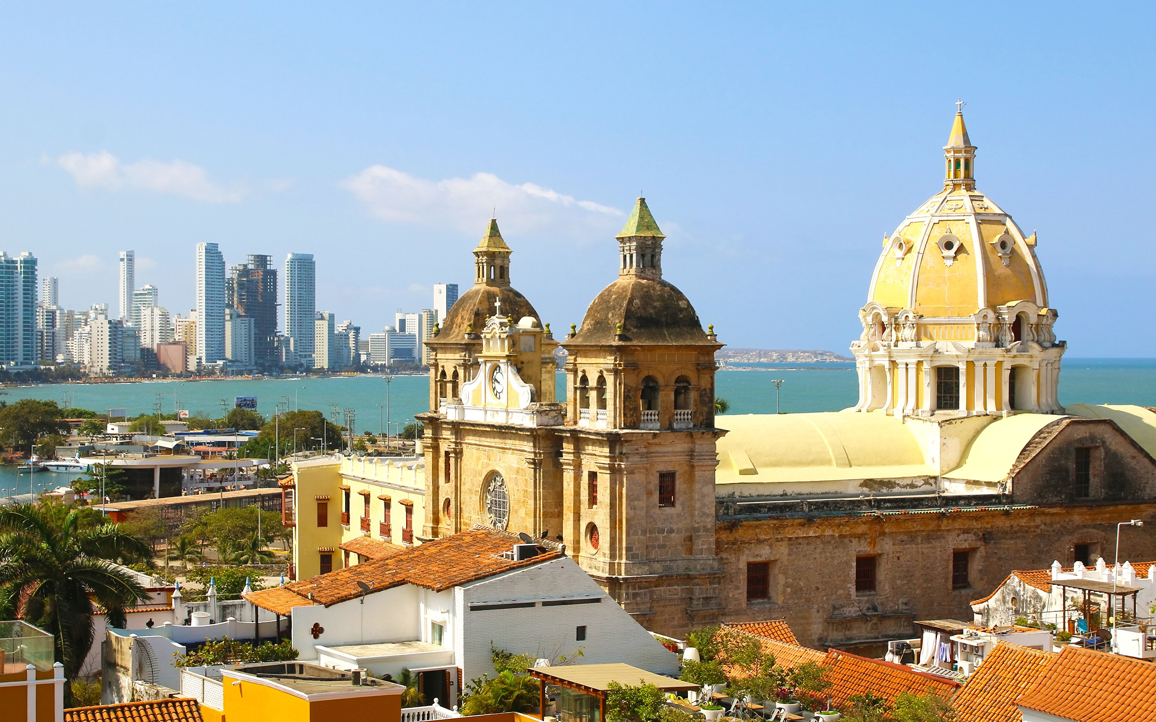 Images Colombia Tower Cartagena Cities Houses 3840x2400