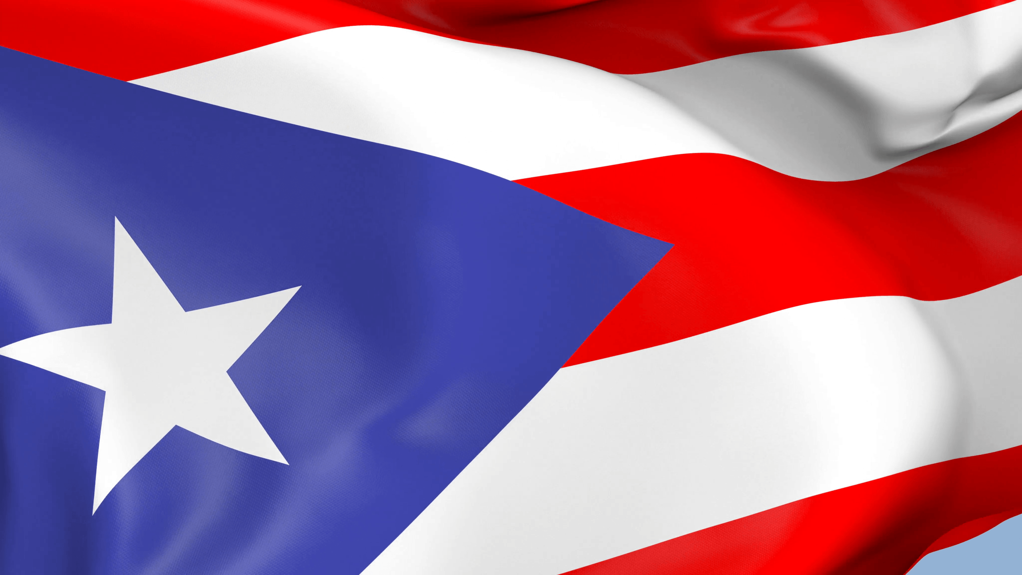 Puerto Rico Waving Flag Backgrounds Loop Motion Backgrounds