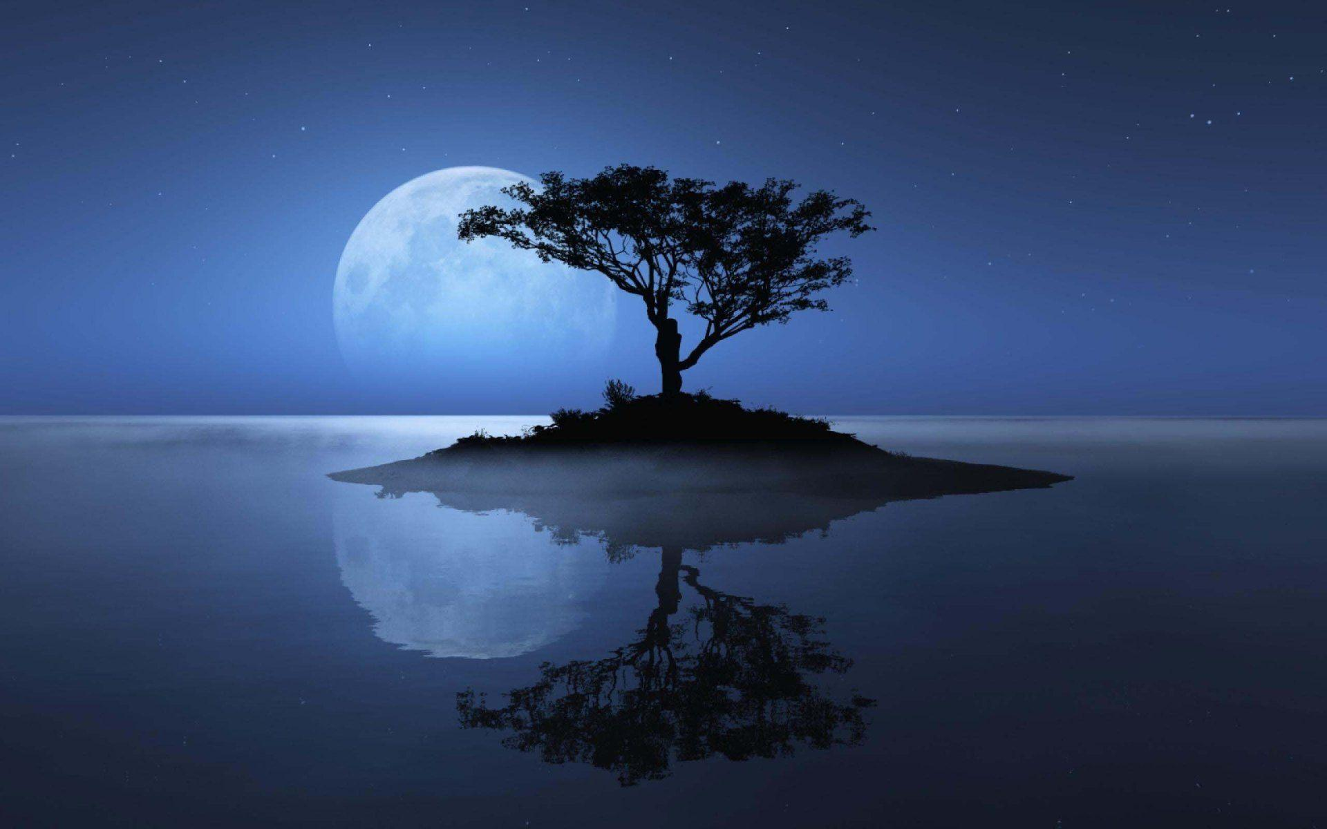 Blue Moon Over The Water