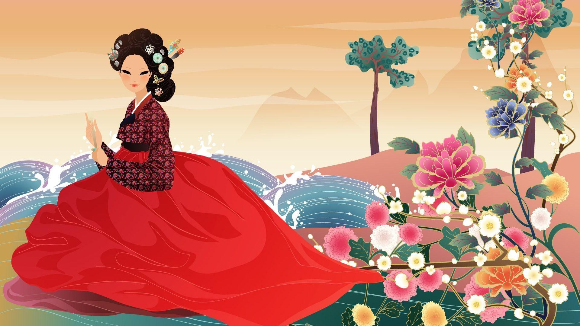 Vector Wallpaper Of Korean Women 1 20