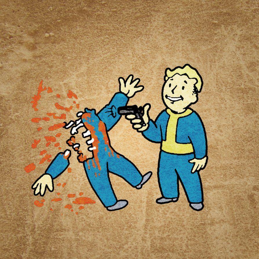 Fallout 3 Wallpapers Vault Boy Wallpaper Cave
