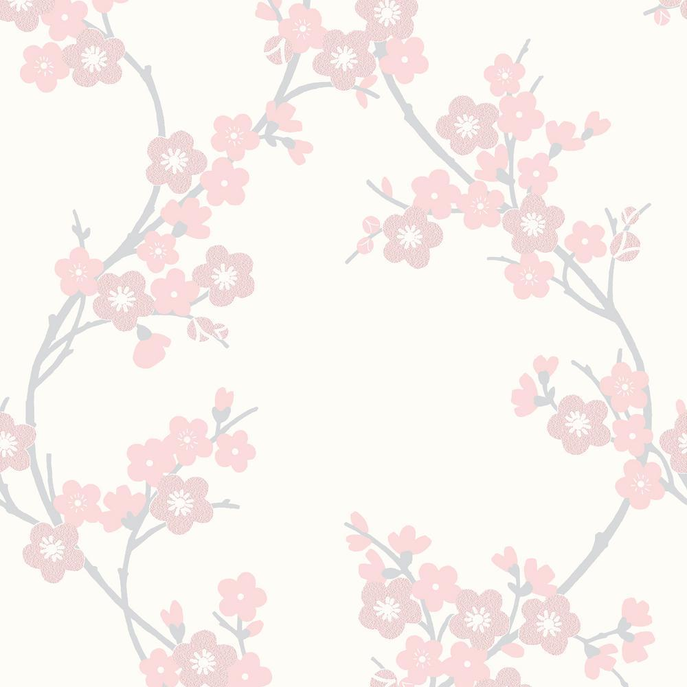 Graham & Brown Soft Pink Cherry Blossom Wallpapers