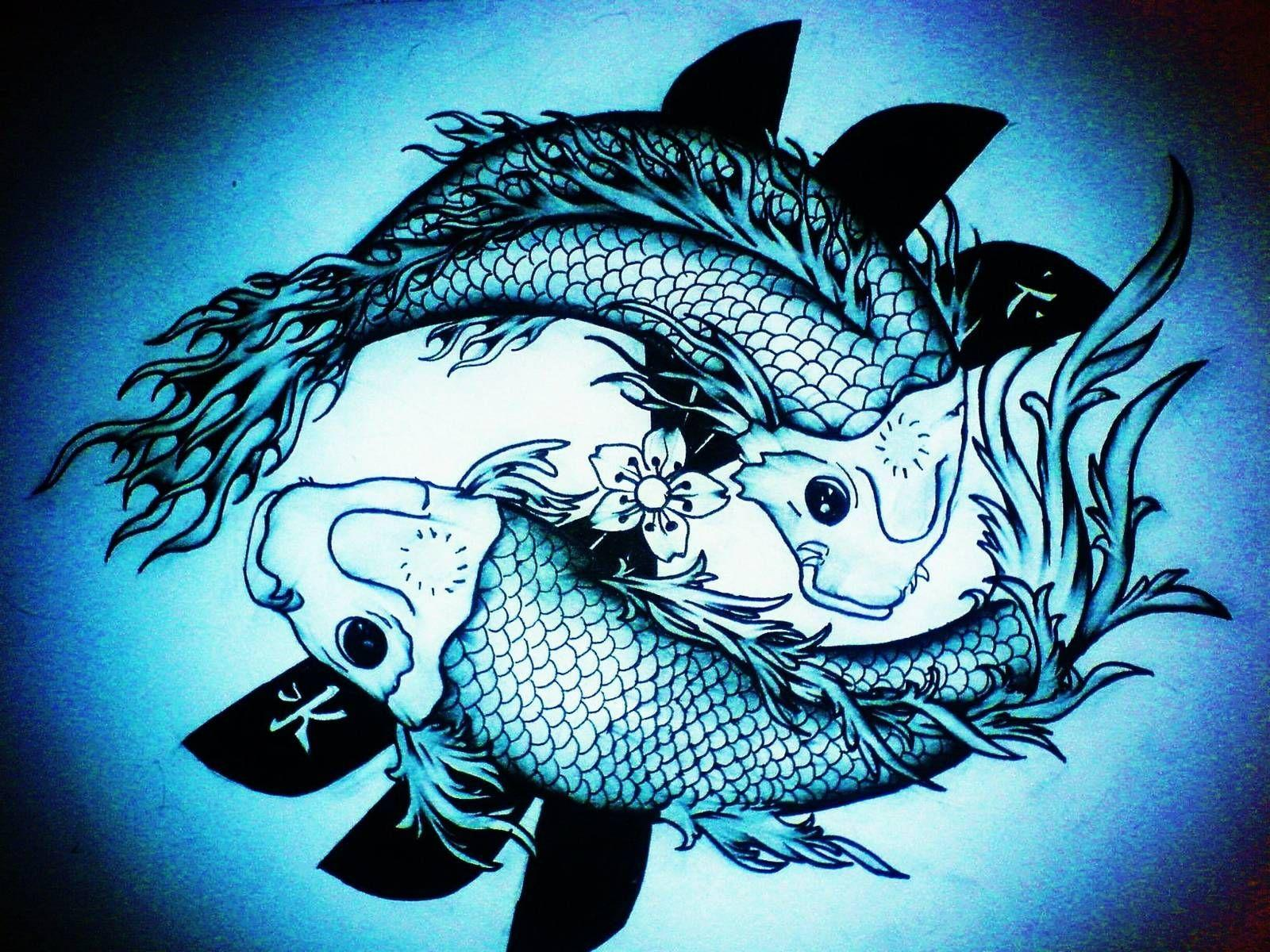 Koi Fish Tattoo Wallpapers Hd Wallpaper Cave