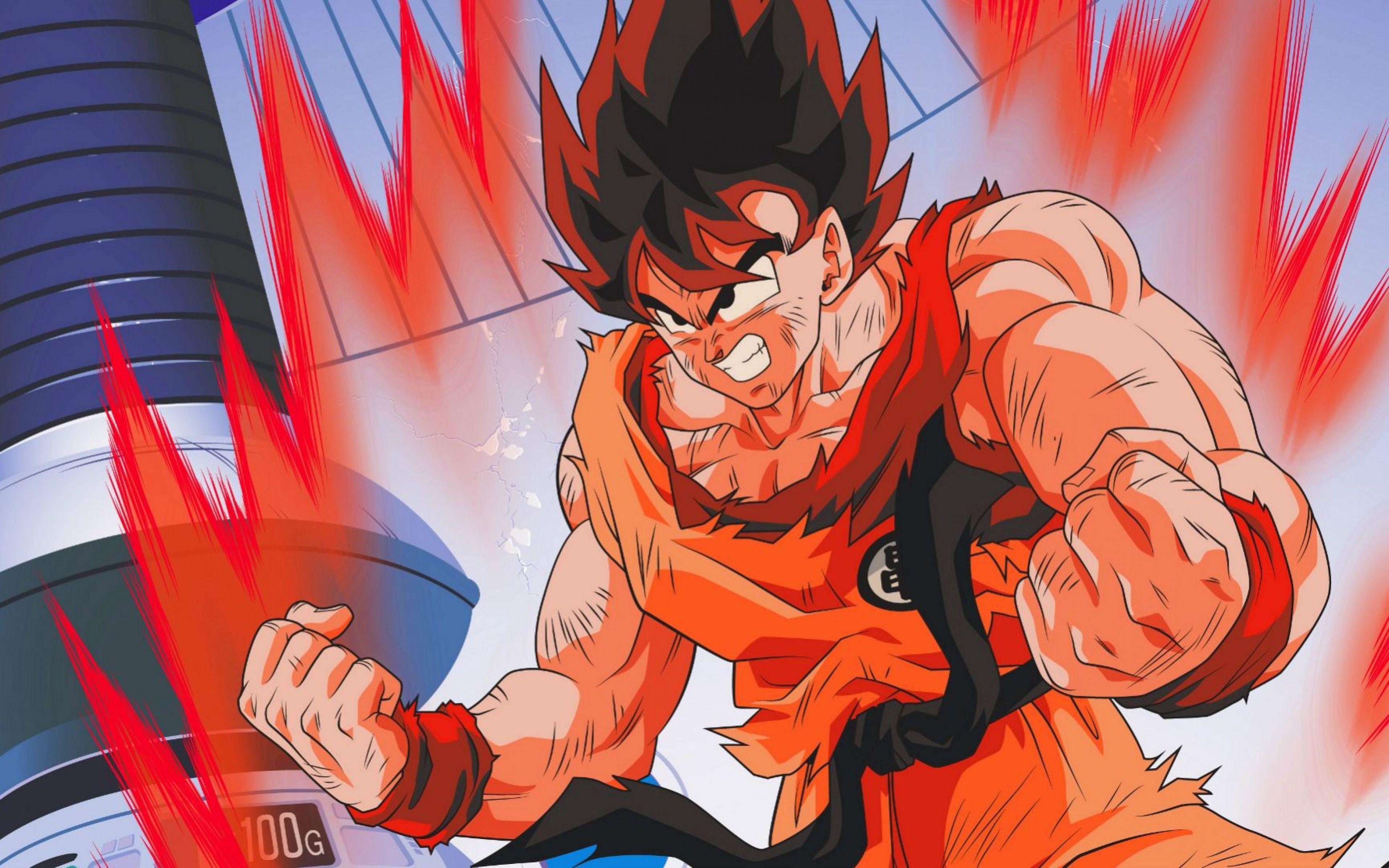 Goku Red Wallpapers Wallpaper Cave