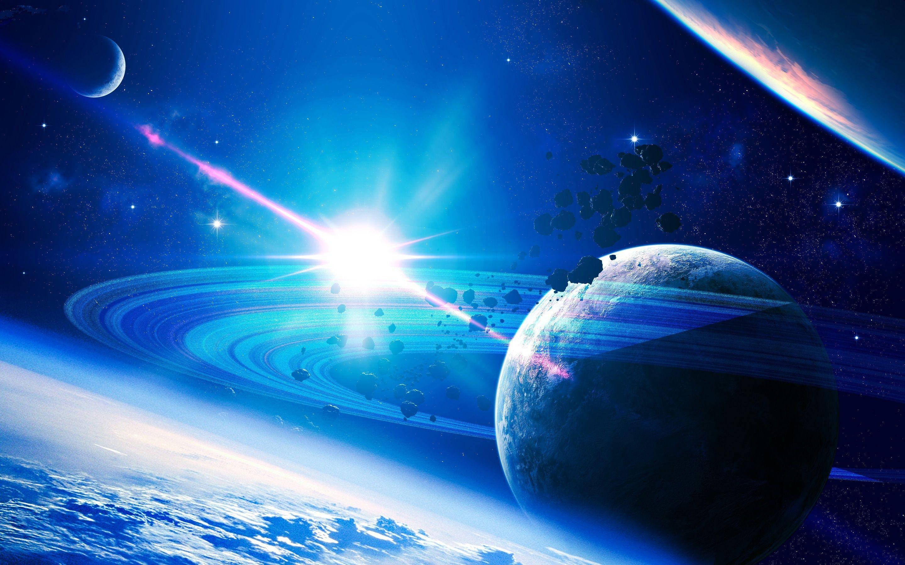 Blue Star In Space Wallpapers Wallpaper Cave