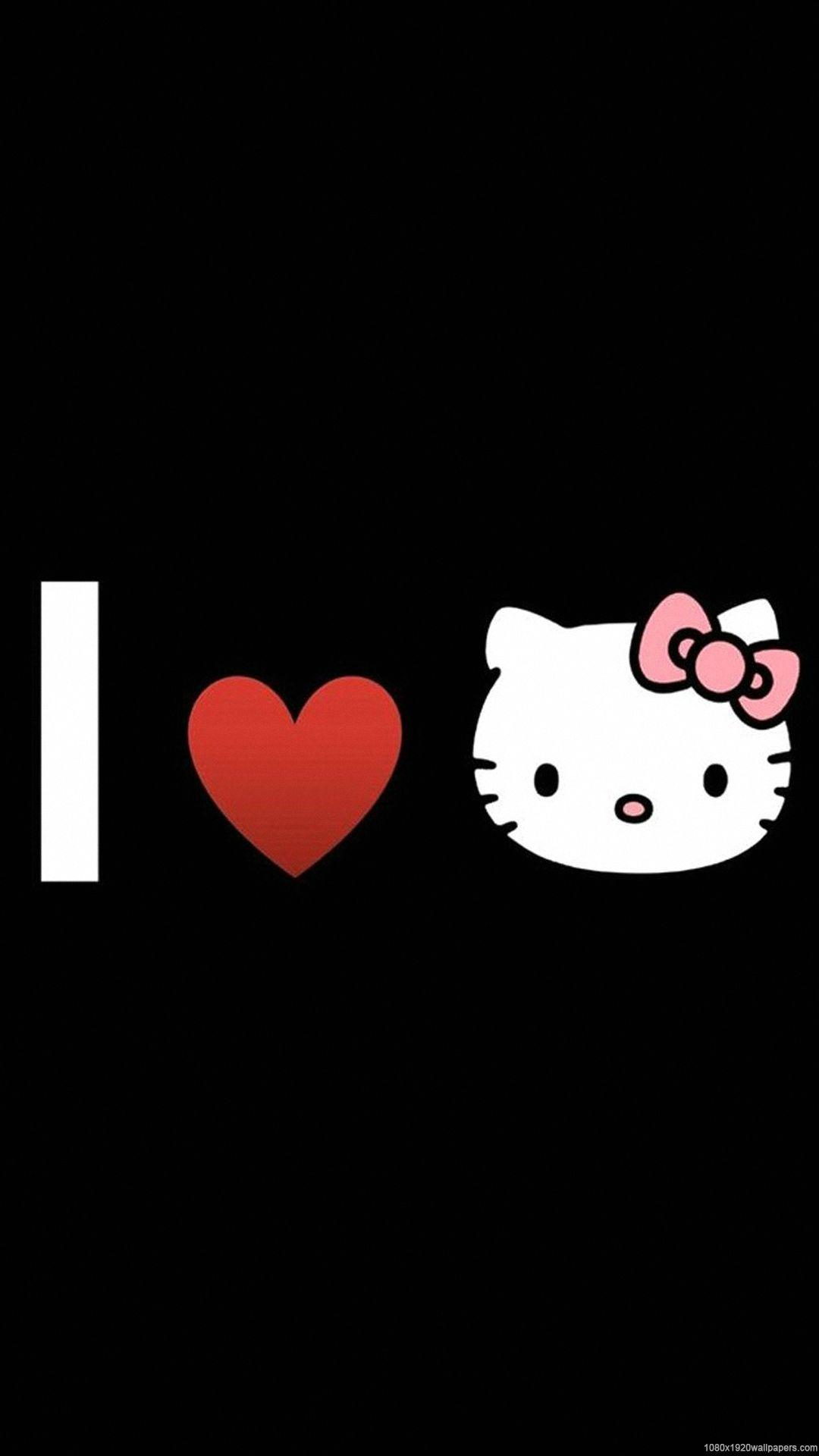 Hello Kitty Pink And Black Wallpapers Wallpaper Cave