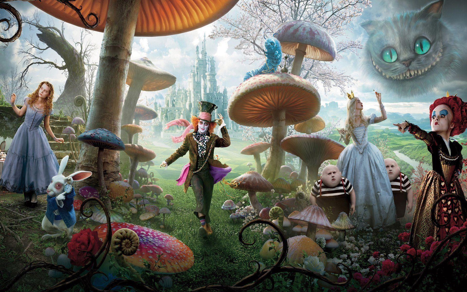 Alice In The Wonderland Tim Burton Wallpapers Wallpaper Cave