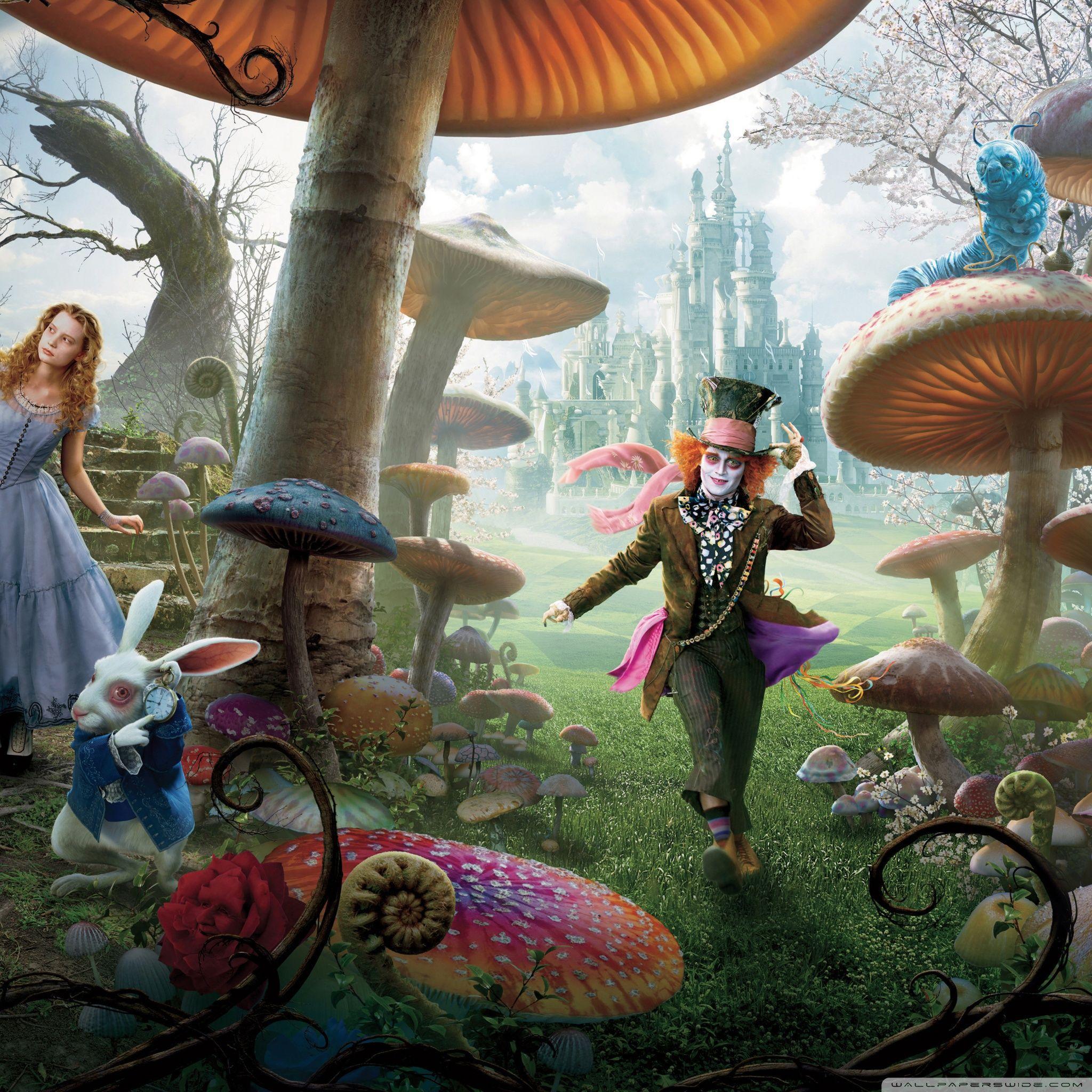 Alice In The Wonderland Tim Burton Wallpapers - Wallpaper Cave