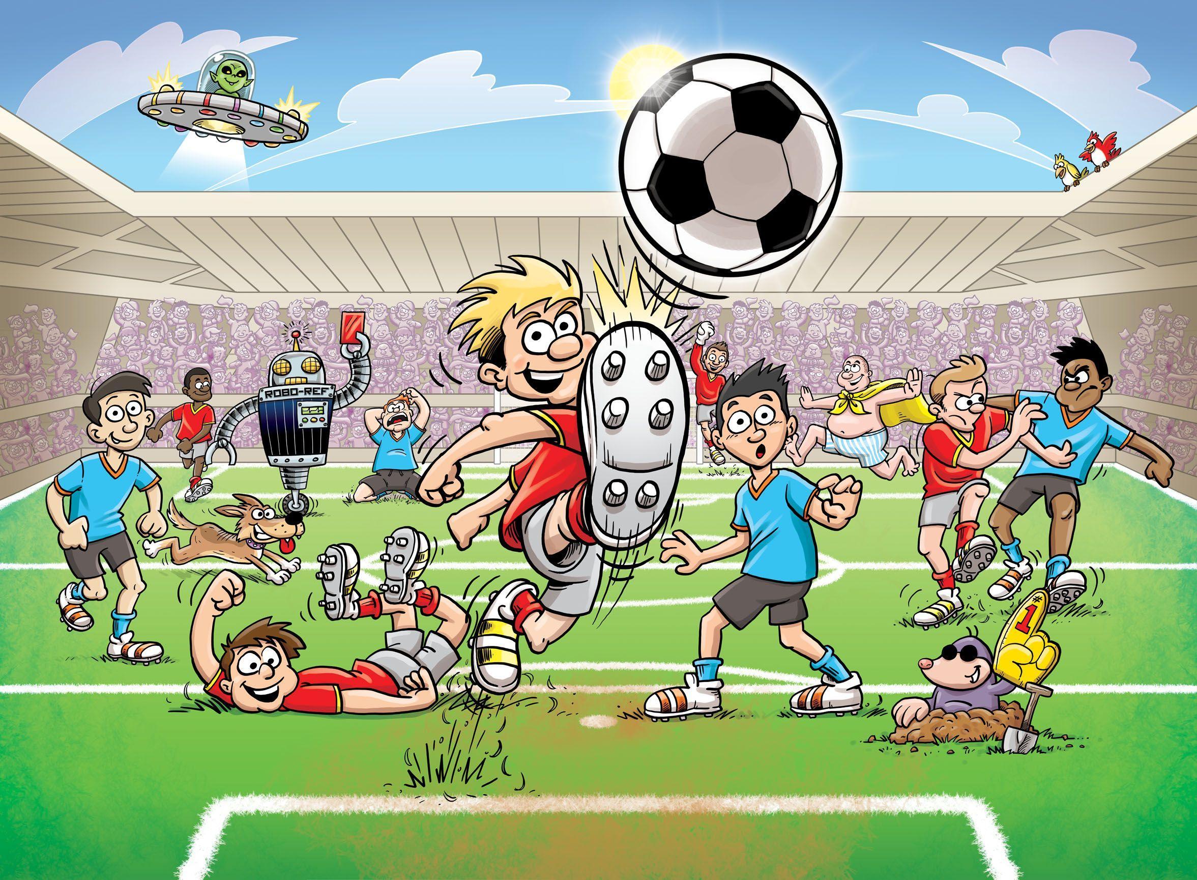 Sport Wallpaper Cartoon: Football Cartoon Wallpapers