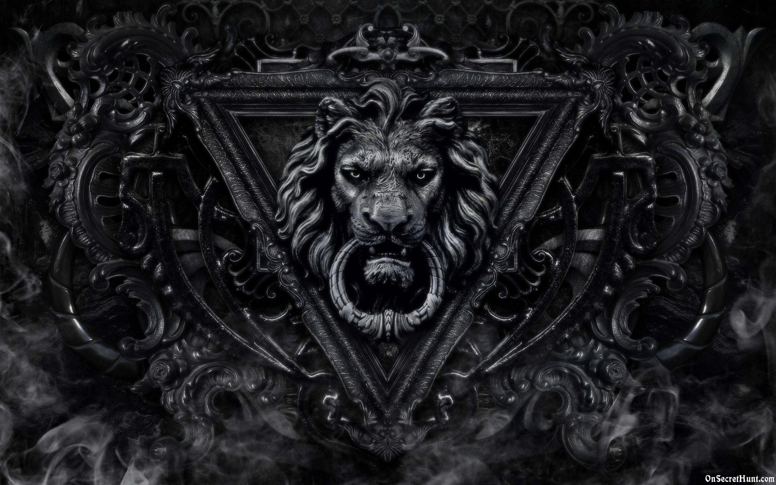 Lions Black Wallpapers Wallpaper Cave