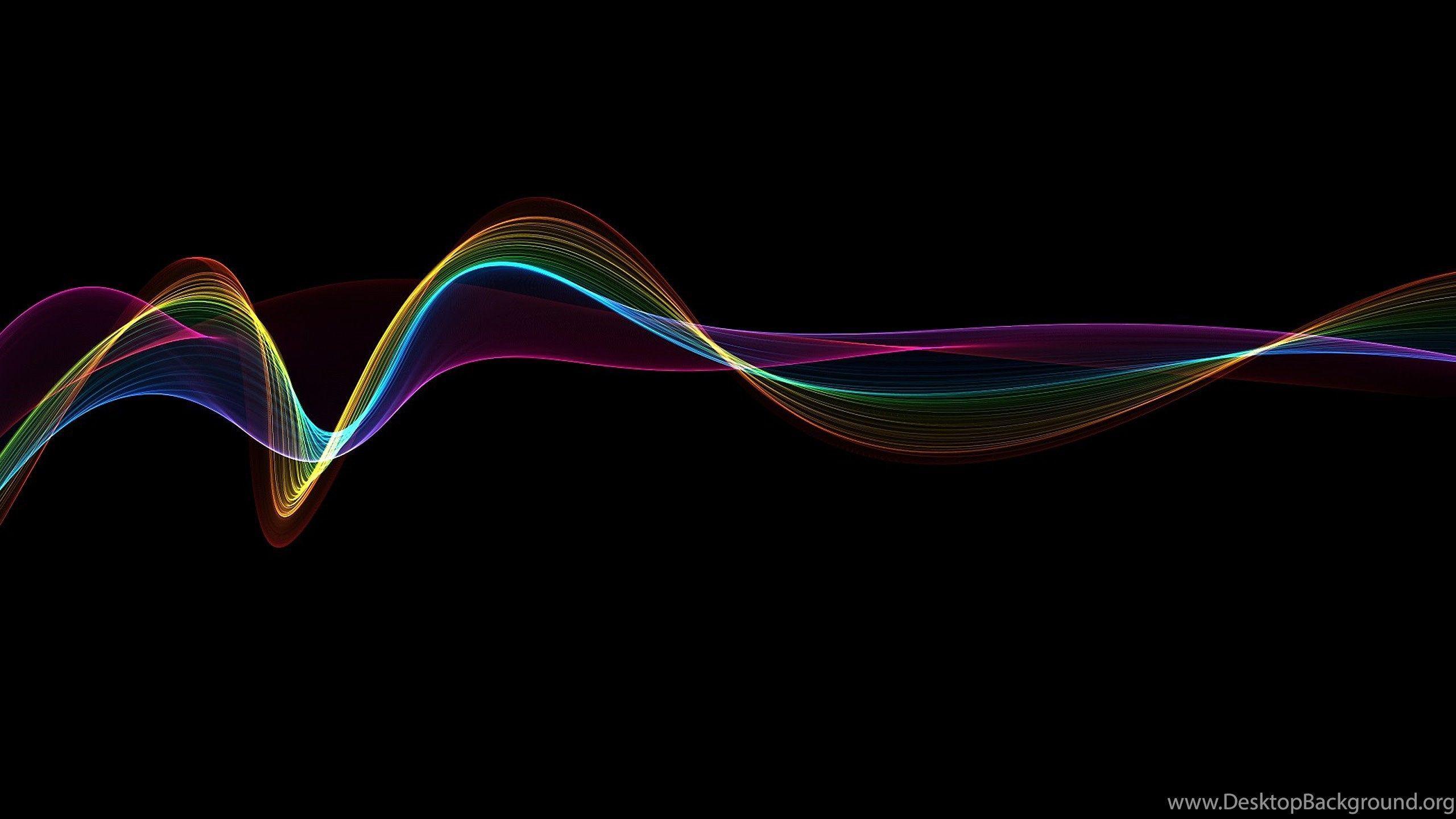 Dark Rainbow Wallpaper 4k