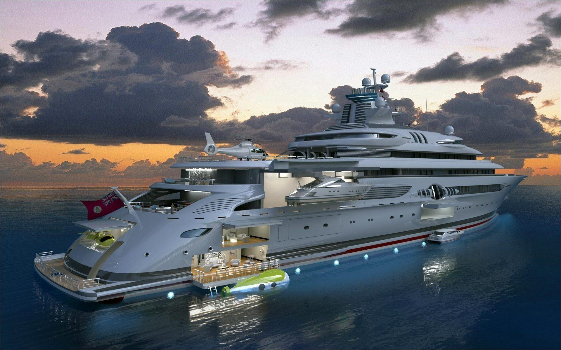Luxury Yachts Wallpapers Wallpaper Cave