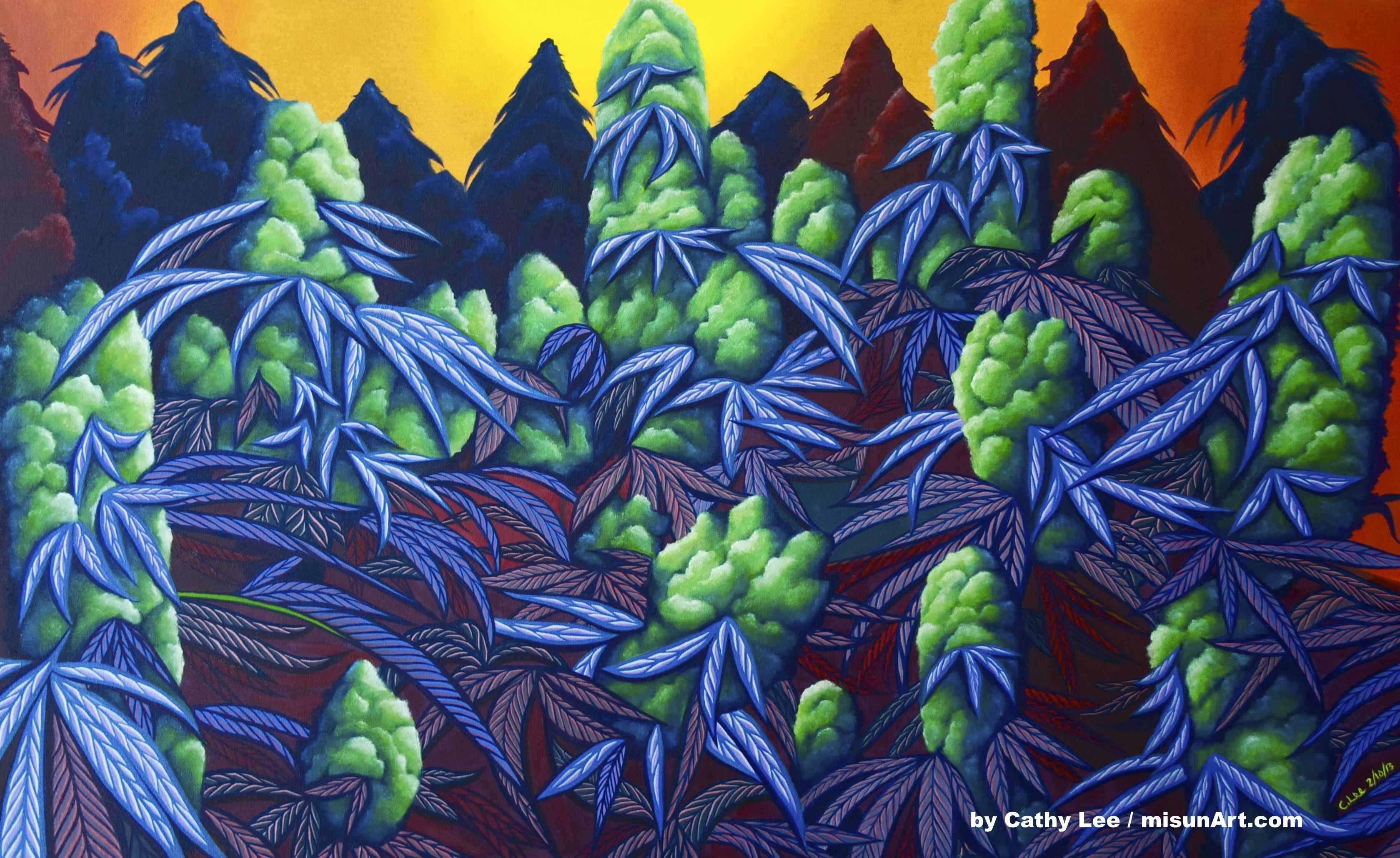Weed Art Wallpapers Wallpaper Cave