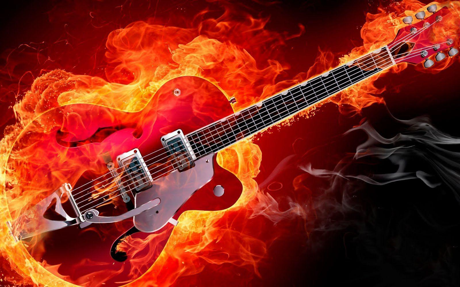 Electric Guitar Wallpaper For Desktop Hd Background - HD Wallpapers ...