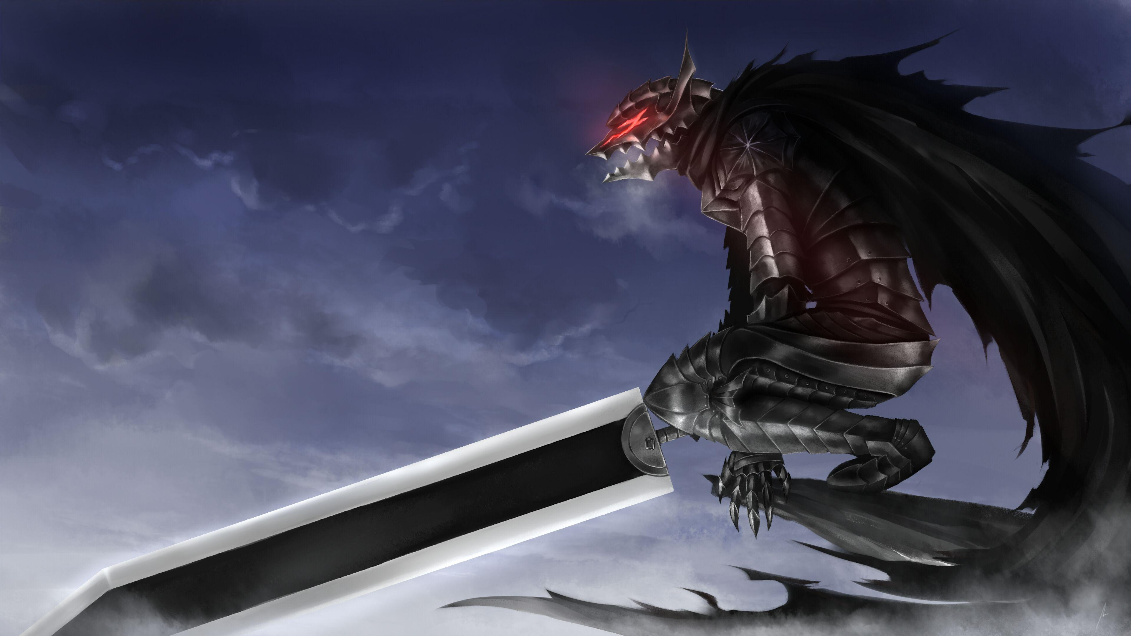 Wallpapers Berserk, Guts, Armor, Sword