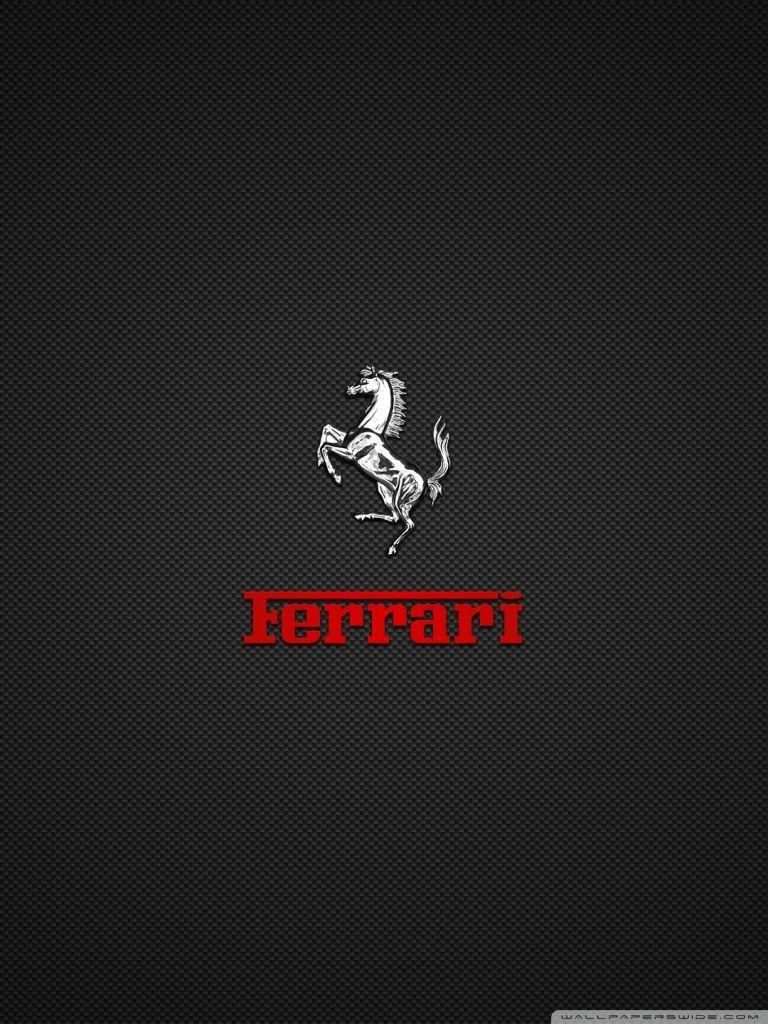Ferrari Wallpaper 4K Logo