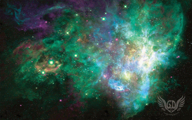 green galaxy wallpapers wallpaper cave