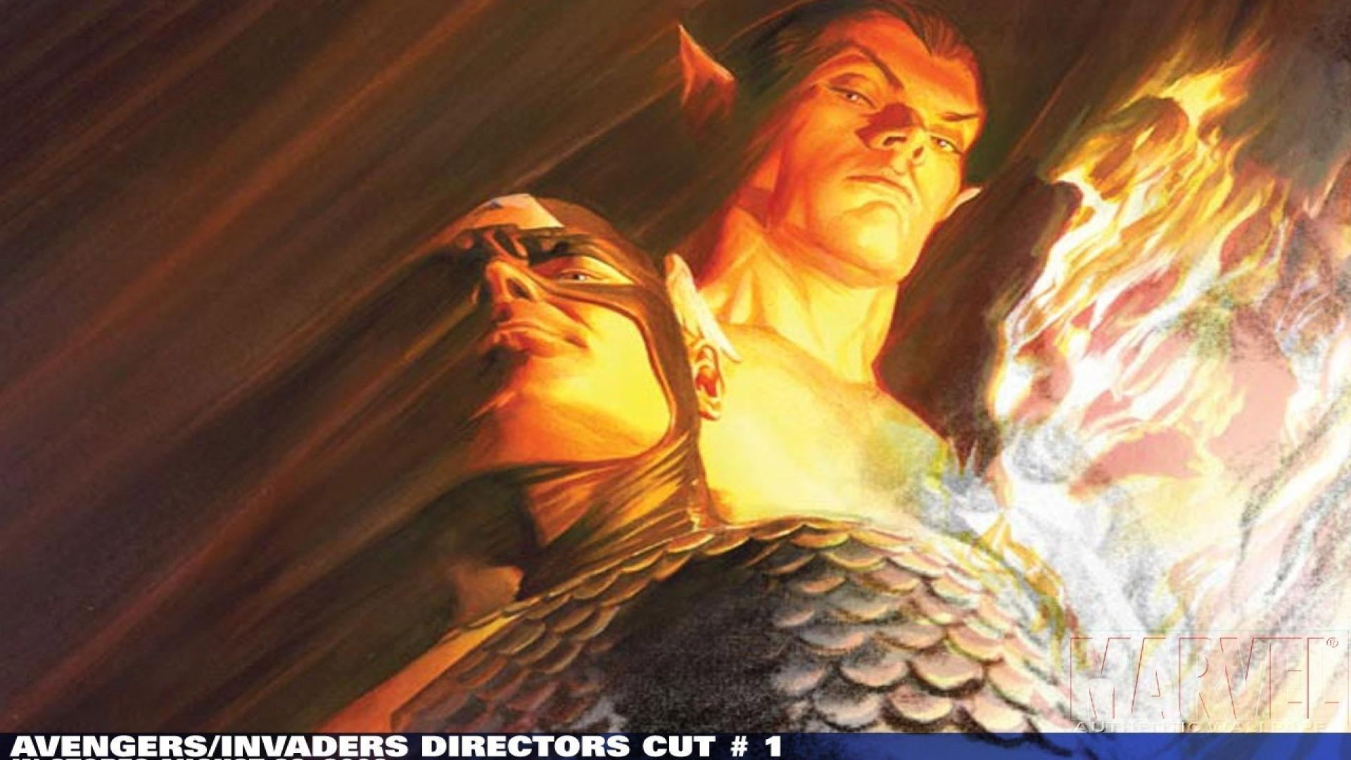 Human torch alex ross namor the submariner wallpapers