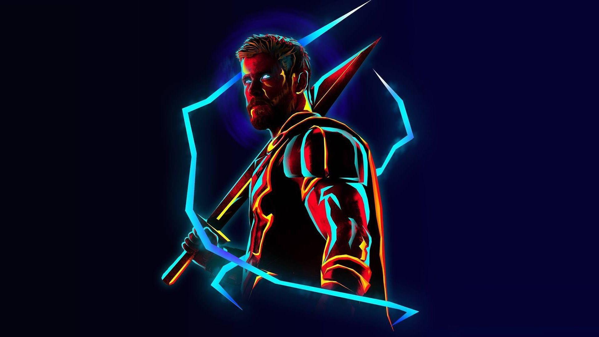 Thor Neon Wallpapers Wallpaper Cave