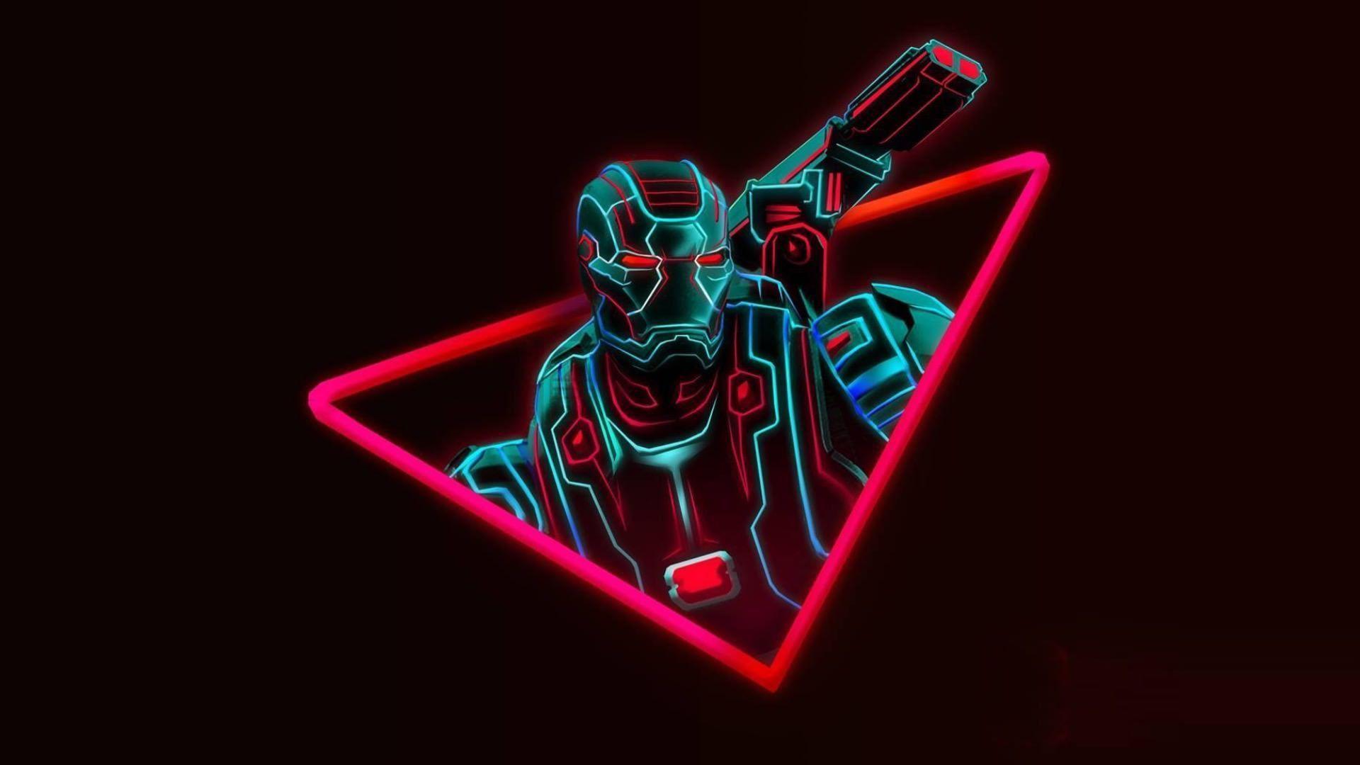Avengers Neon Wallpapers - Wallpaper Cave