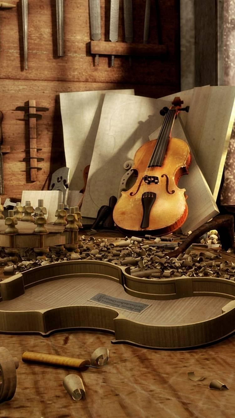 Panda Wallpapers Violin - Wallpaper Cave