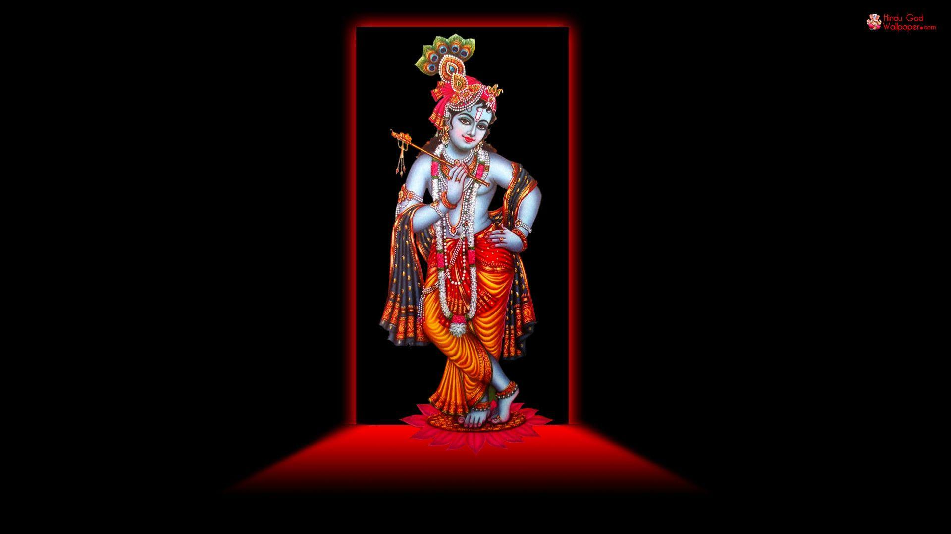 Lord Krishna 3d Images In Black Backgrounds Wallpaper Cave
