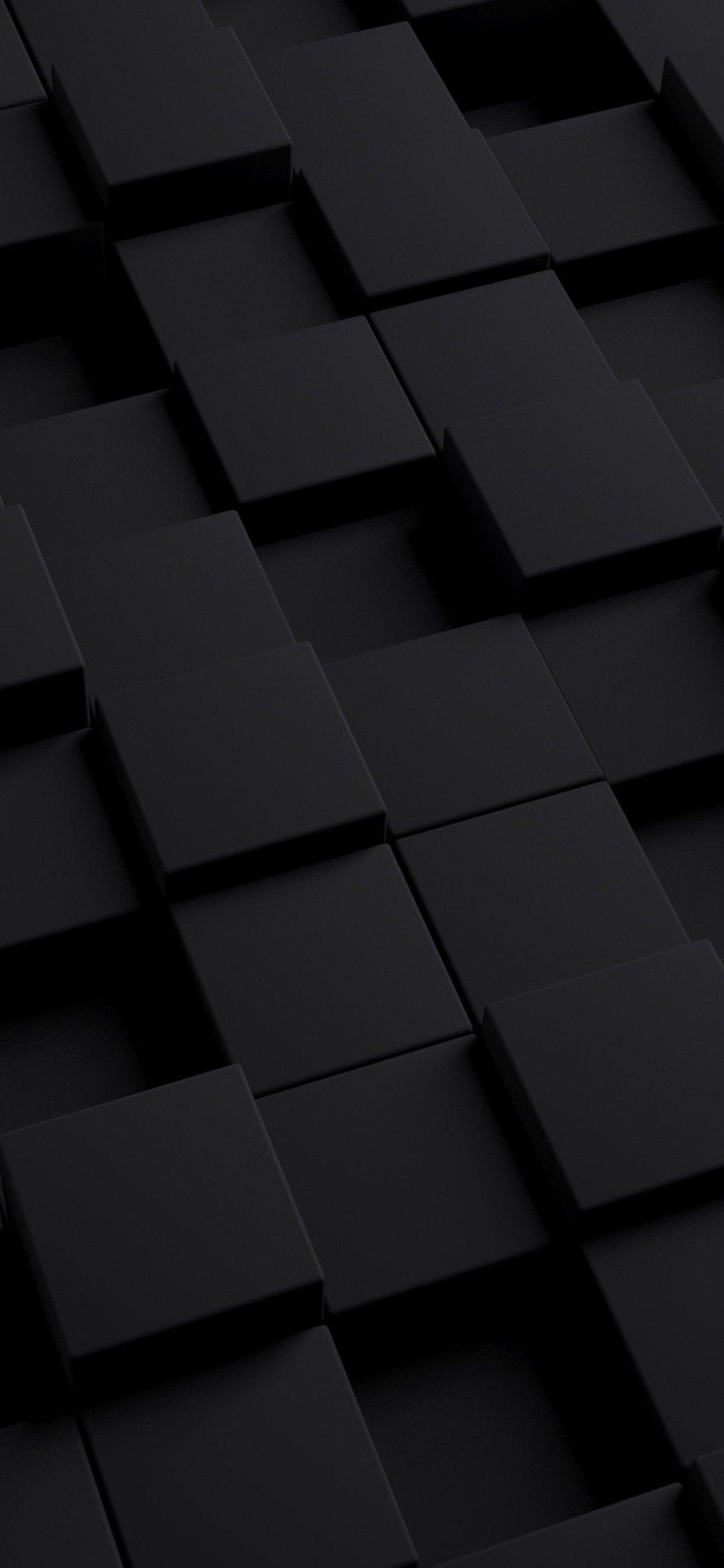 Black 3D Cubes IPhone Wallpapers Wallpaper Cave