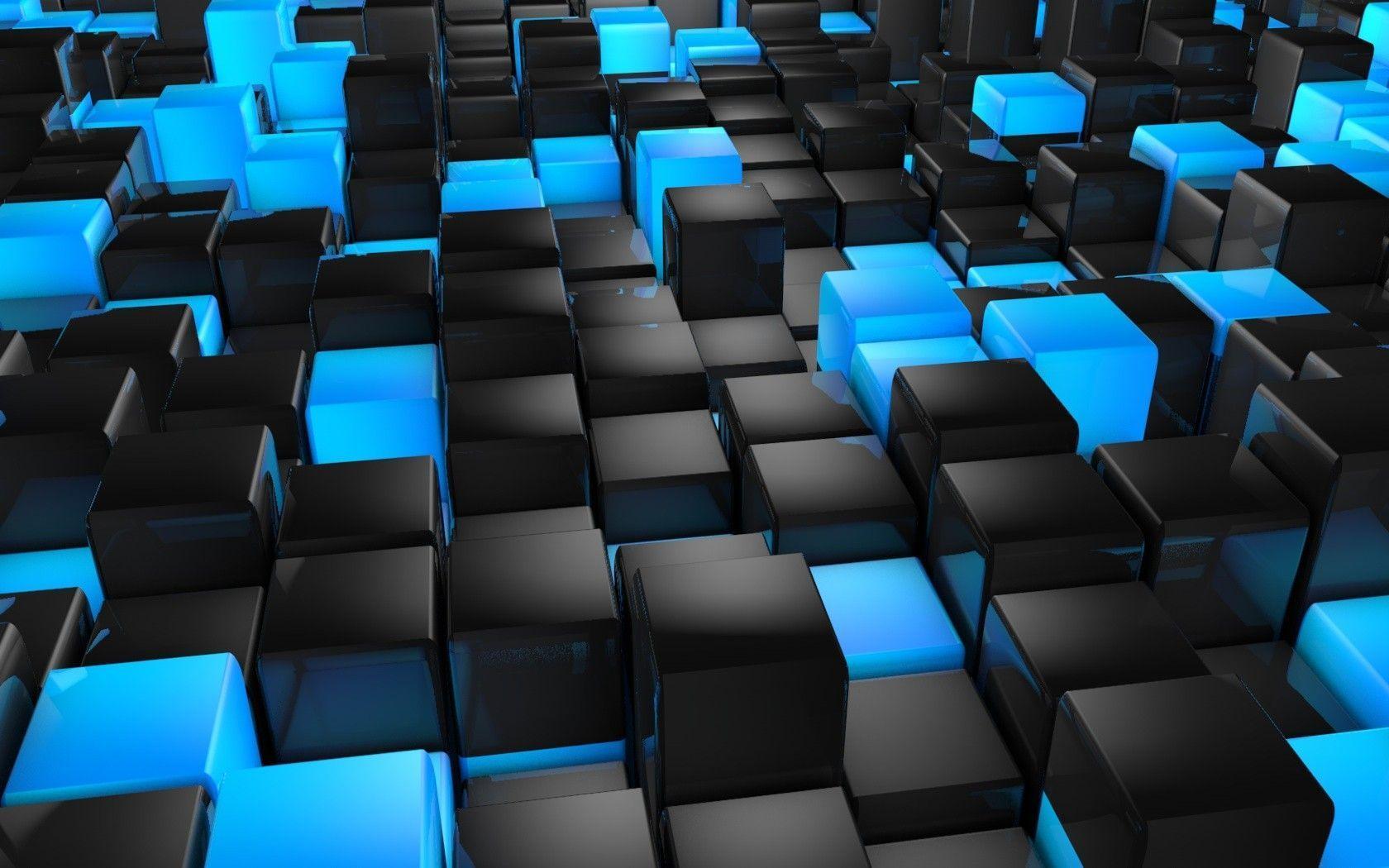 Rendering d Milky Way Square Car Dark Cubes Wallpapers Hd