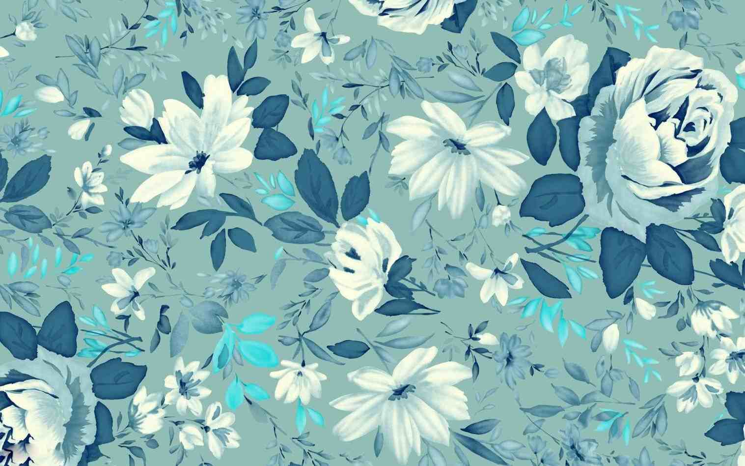 Vintage Blue Floral Backgrounds Wallpaper Cave