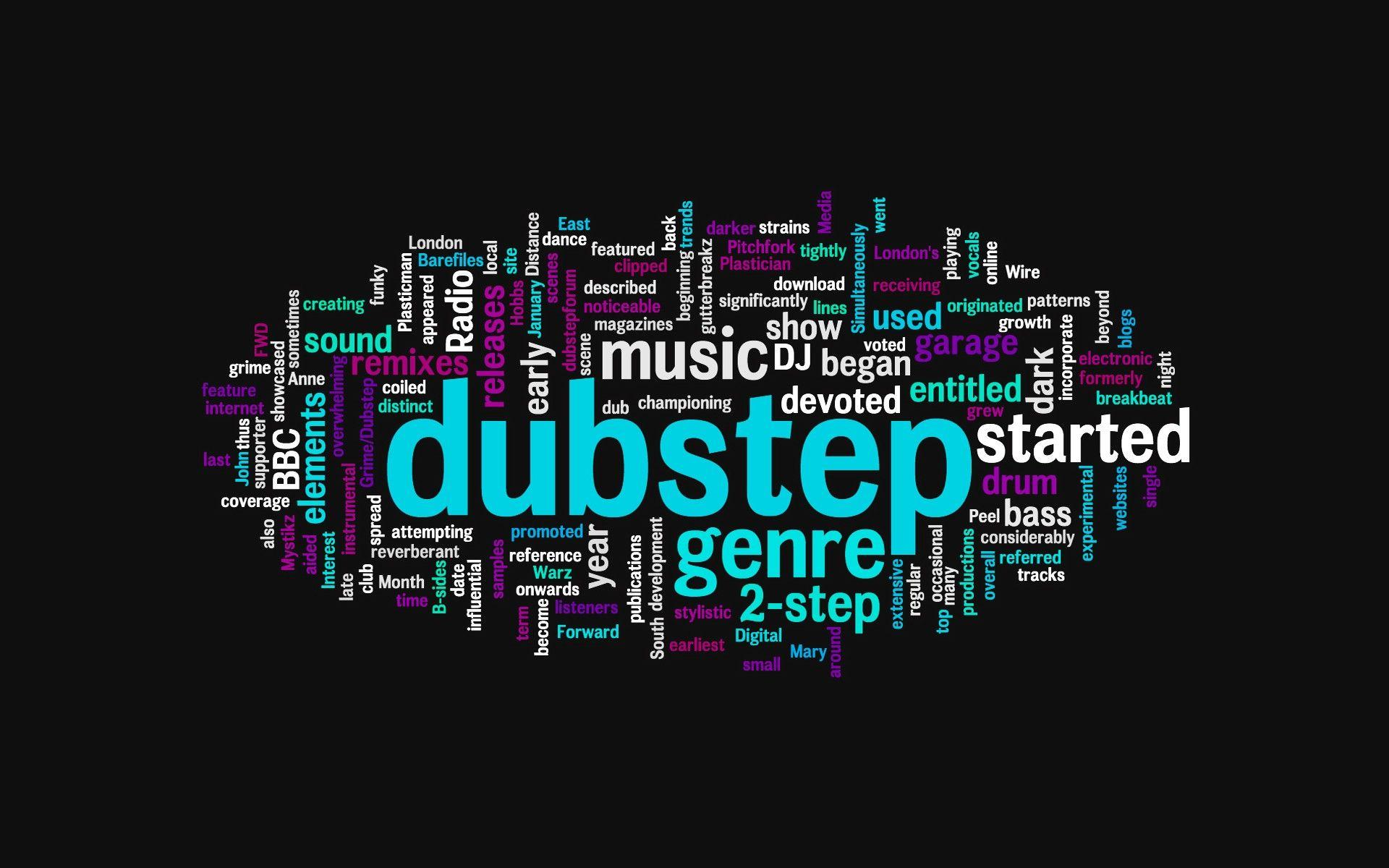 music, bass, electric, dubstep, DJ, wordcloud :: Wallpapers
