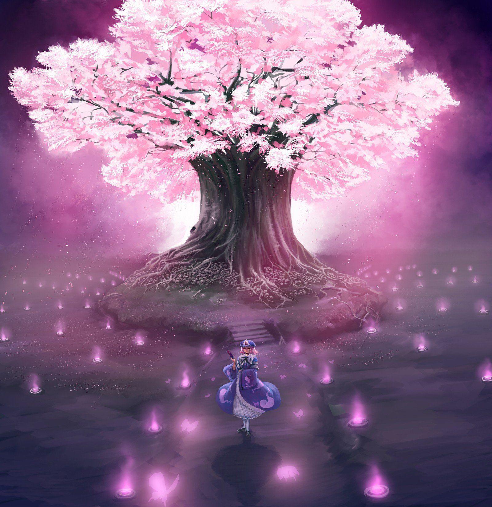 21+ Cherry Blossom Illustration Anime JPG