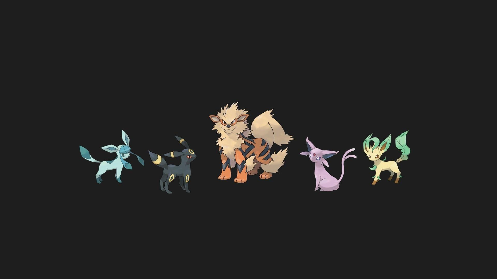 Pokemon espeon jolteon arcanine leafeon glaceon wallpapers